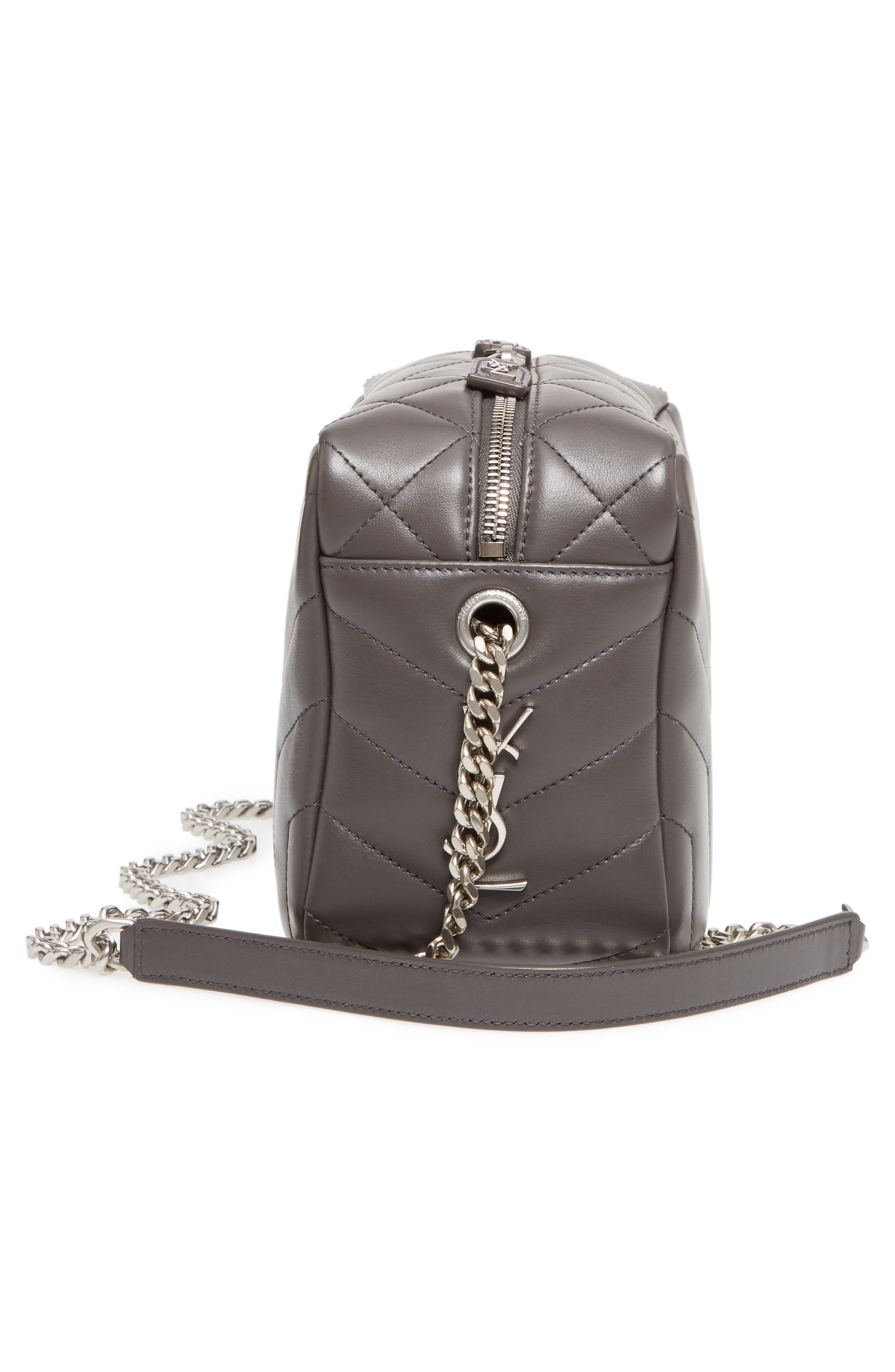 Small Loulou Leather Bowling Bag,                             Alternate thumbnail 5, color,                             064