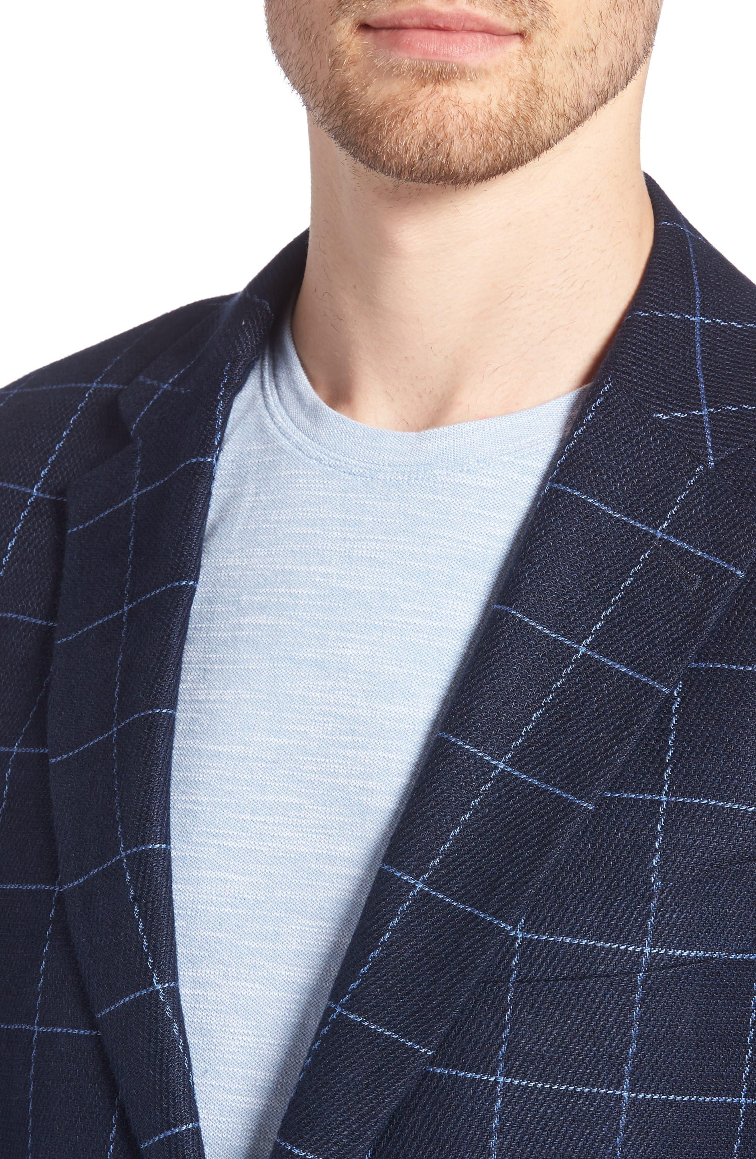 Underwood Regular Fit Sport Coat,                             Alternate thumbnail 4, color,                             NAVY