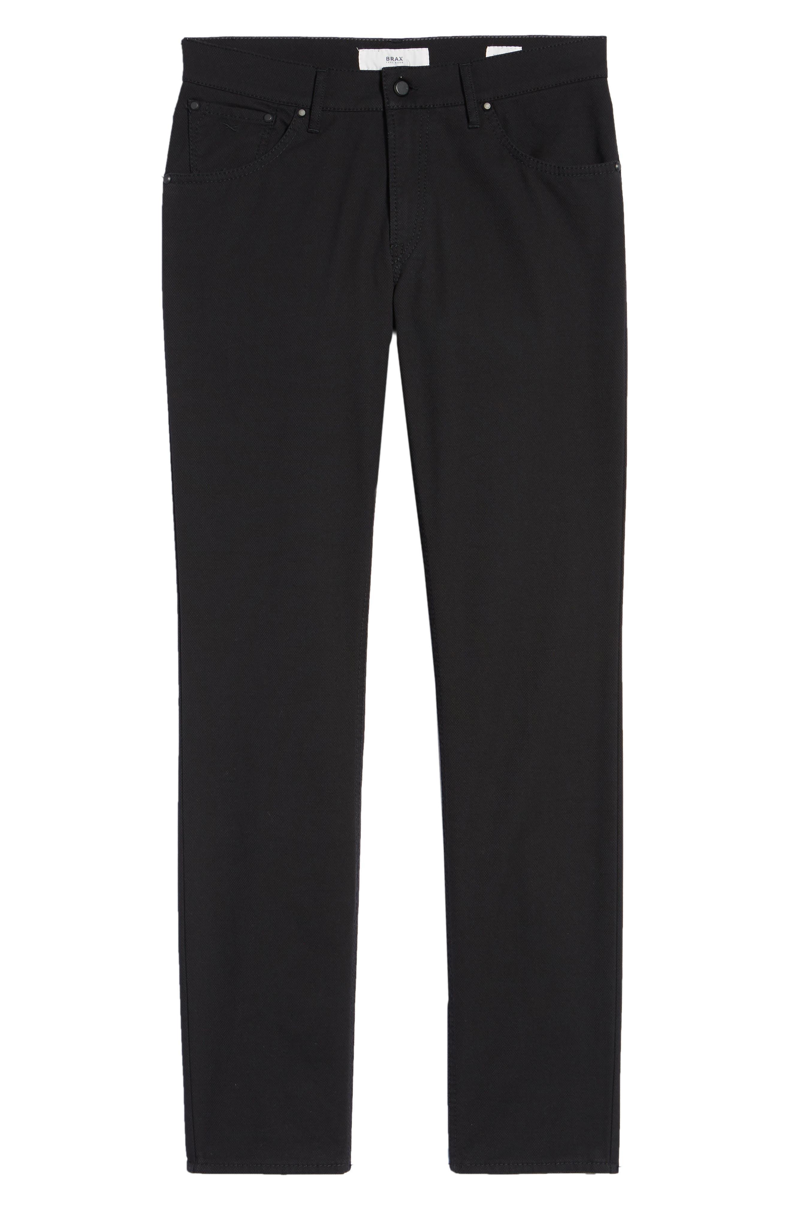 Woolook Diamond Slim Fit Pants,                             Alternate thumbnail 6, color,                             BLACK