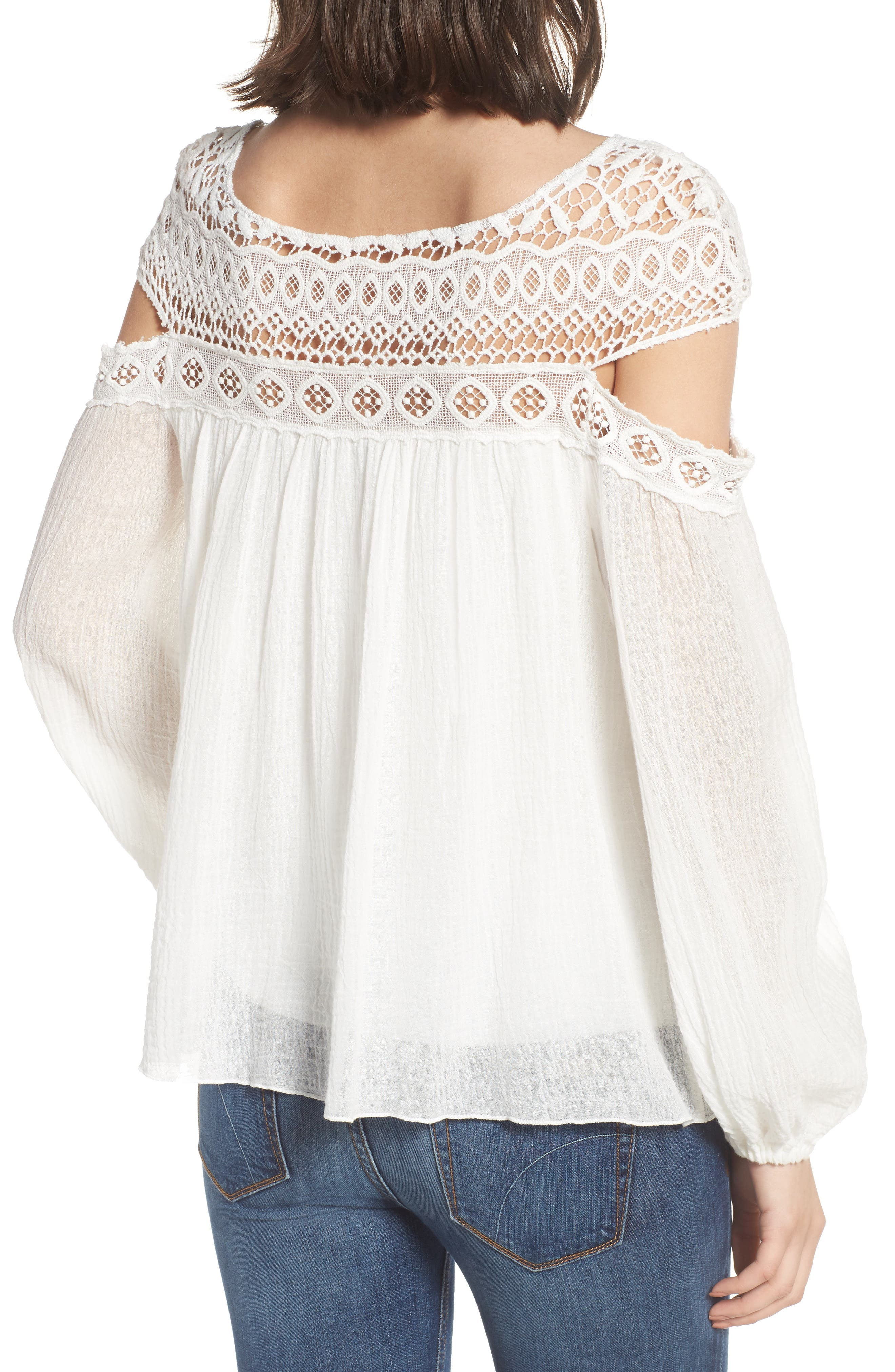 Cutout Sleeve Top,                             Alternate thumbnail 4, color,