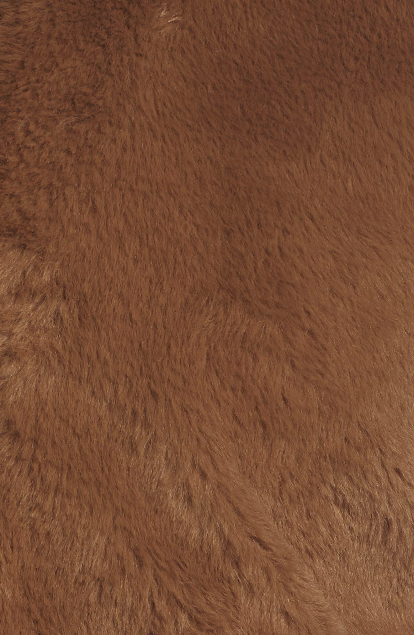 Fur-Fect Faux Fur Jacket,                             Alternate thumbnail 7, color,                             TAN DALE