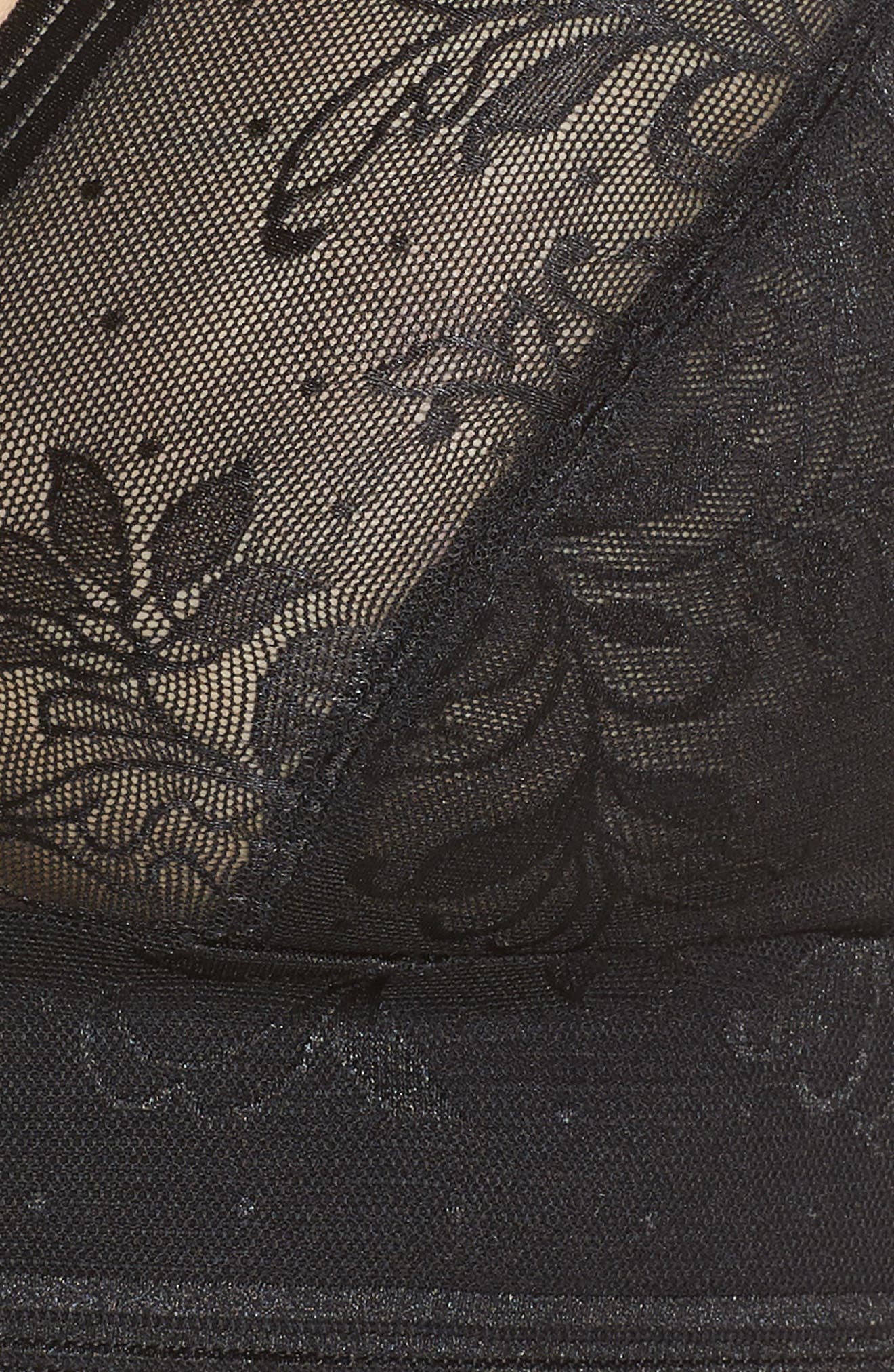 Net Effect Bralette,                             Alternate thumbnail 6, color,                             BLACK