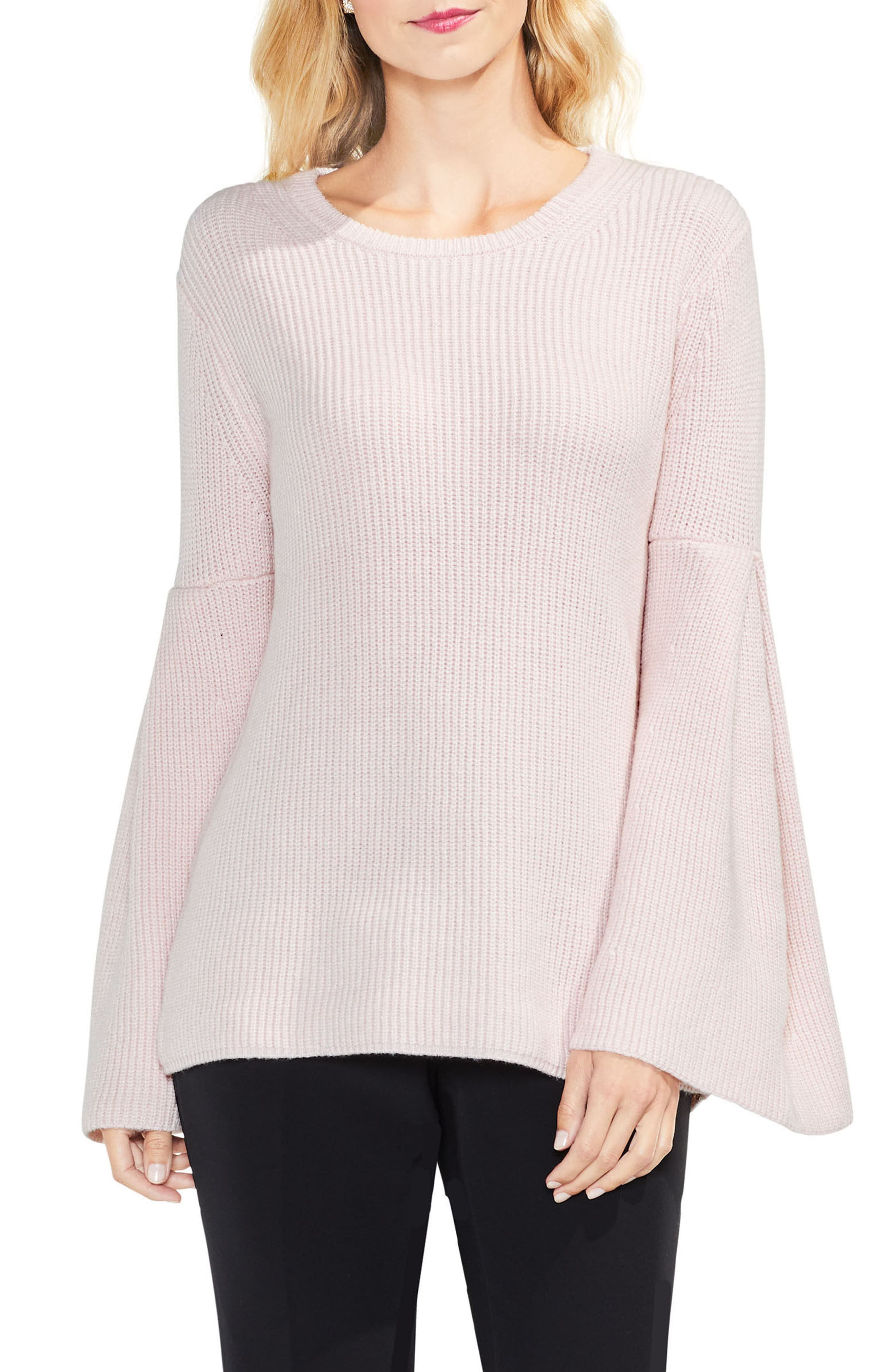 All Over Rib Bell Sleeve Sweater,                             Main thumbnail 5, color,