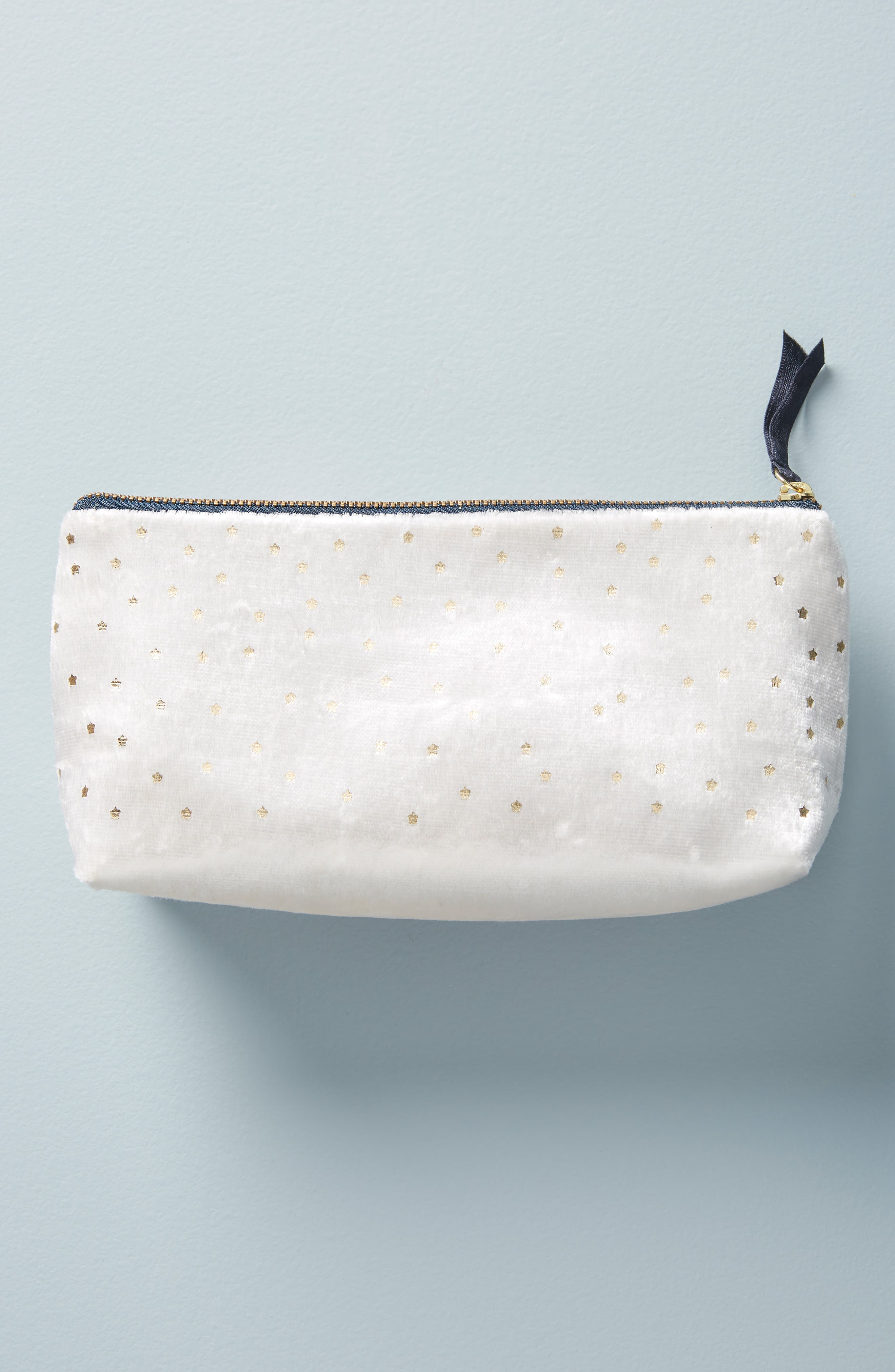 Claire Embellished Pencil Pouch,                             Alternate thumbnail 2, color,                             IVORY