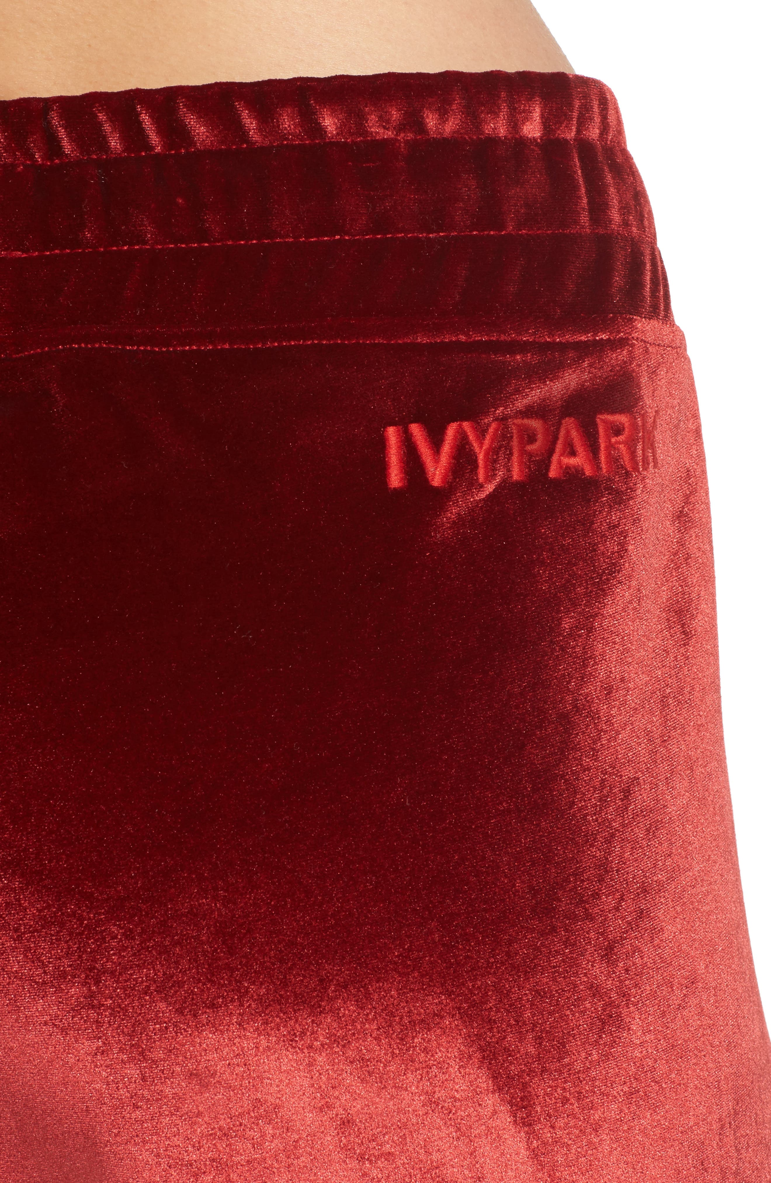 Velvet Jogger Pants,                             Alternate thumbnail 4, color,                             600