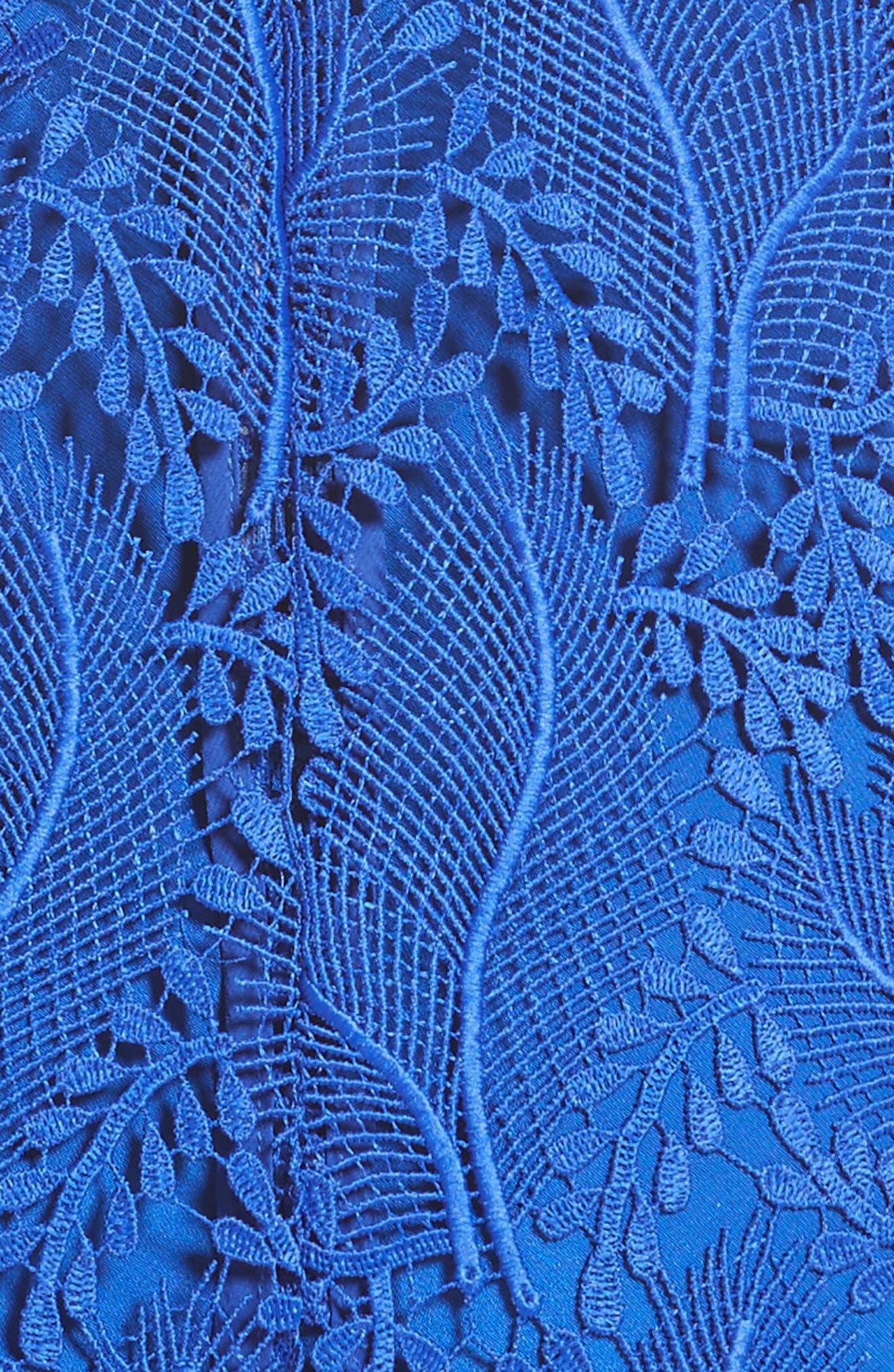 Lace Midi Sheath Dress,                             Alternate thumbnail 5, color,                             498