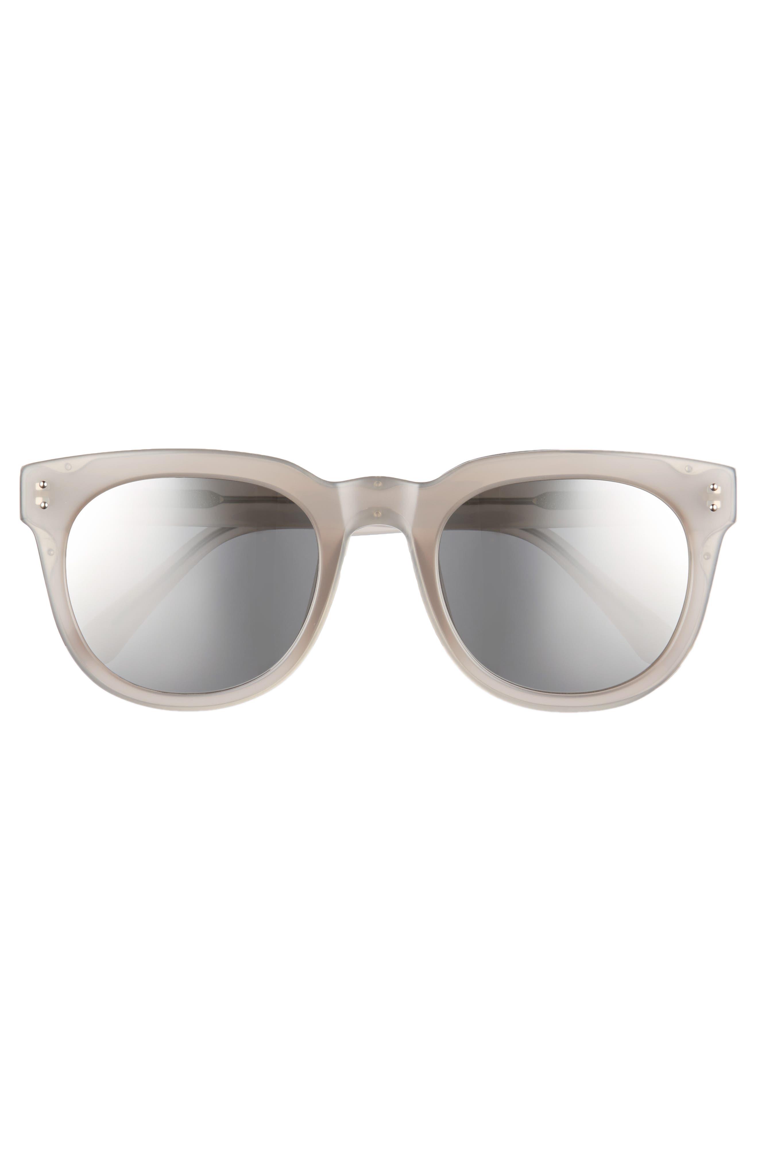 50mm D-Frame Mirrored Sunglasses,                             Alternate thumbnail 3, color,                             020