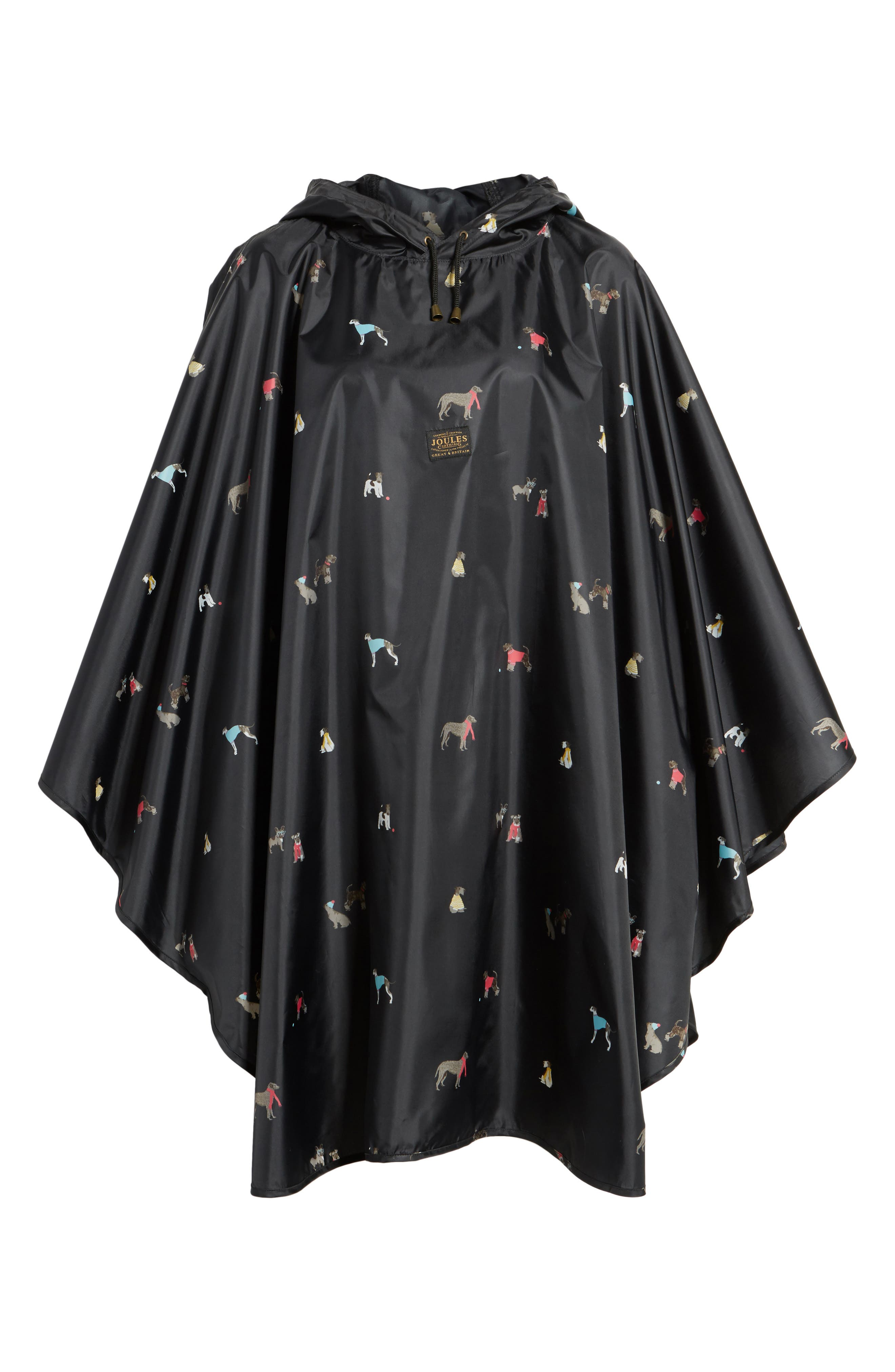 Right as Rain Print Packable Hooded Poncho,                             Alternate thumbnail 6, color,                             015