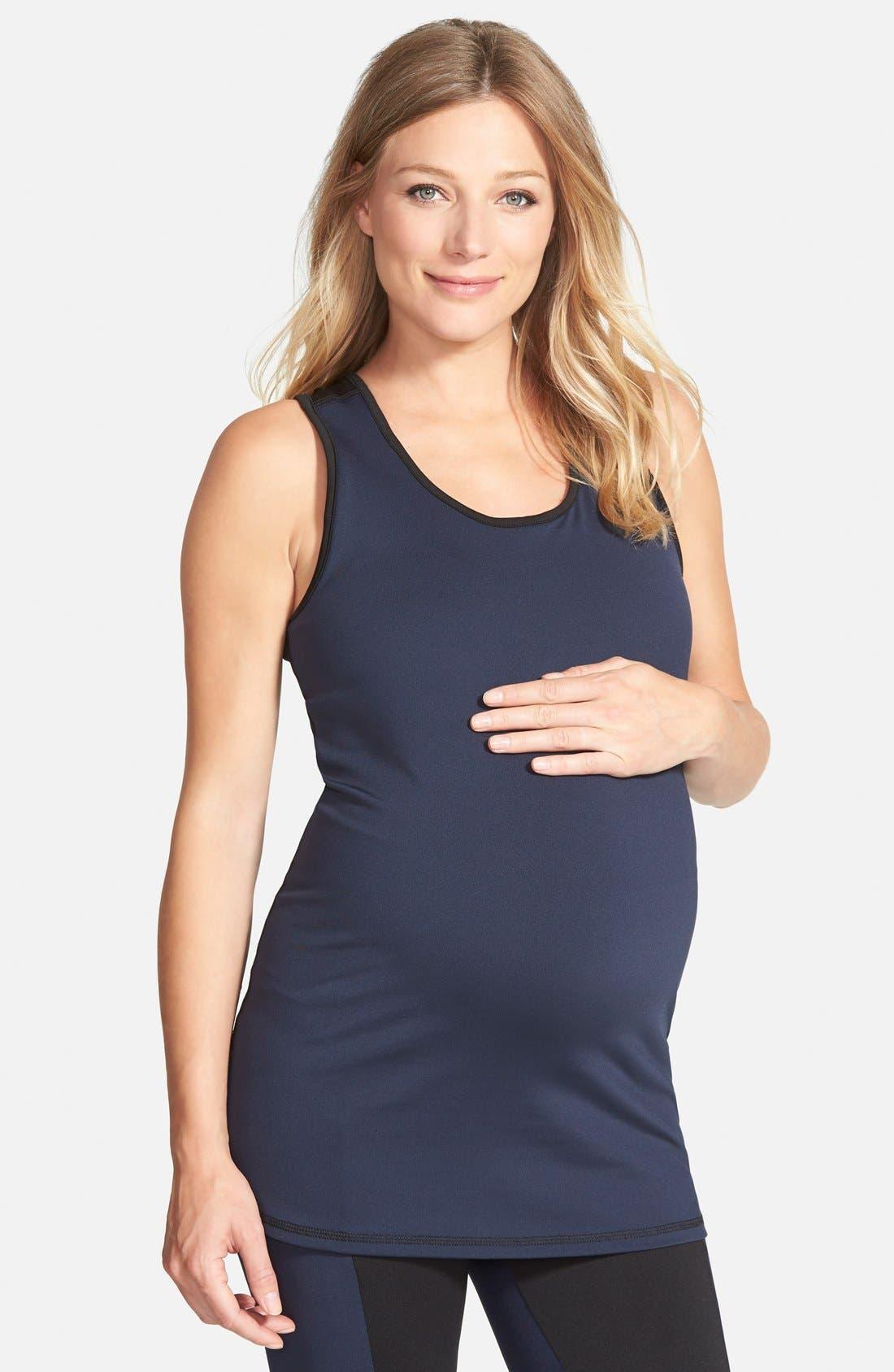 Shelf Bra Maternity Tank,                             Main thumbnail 1, color,