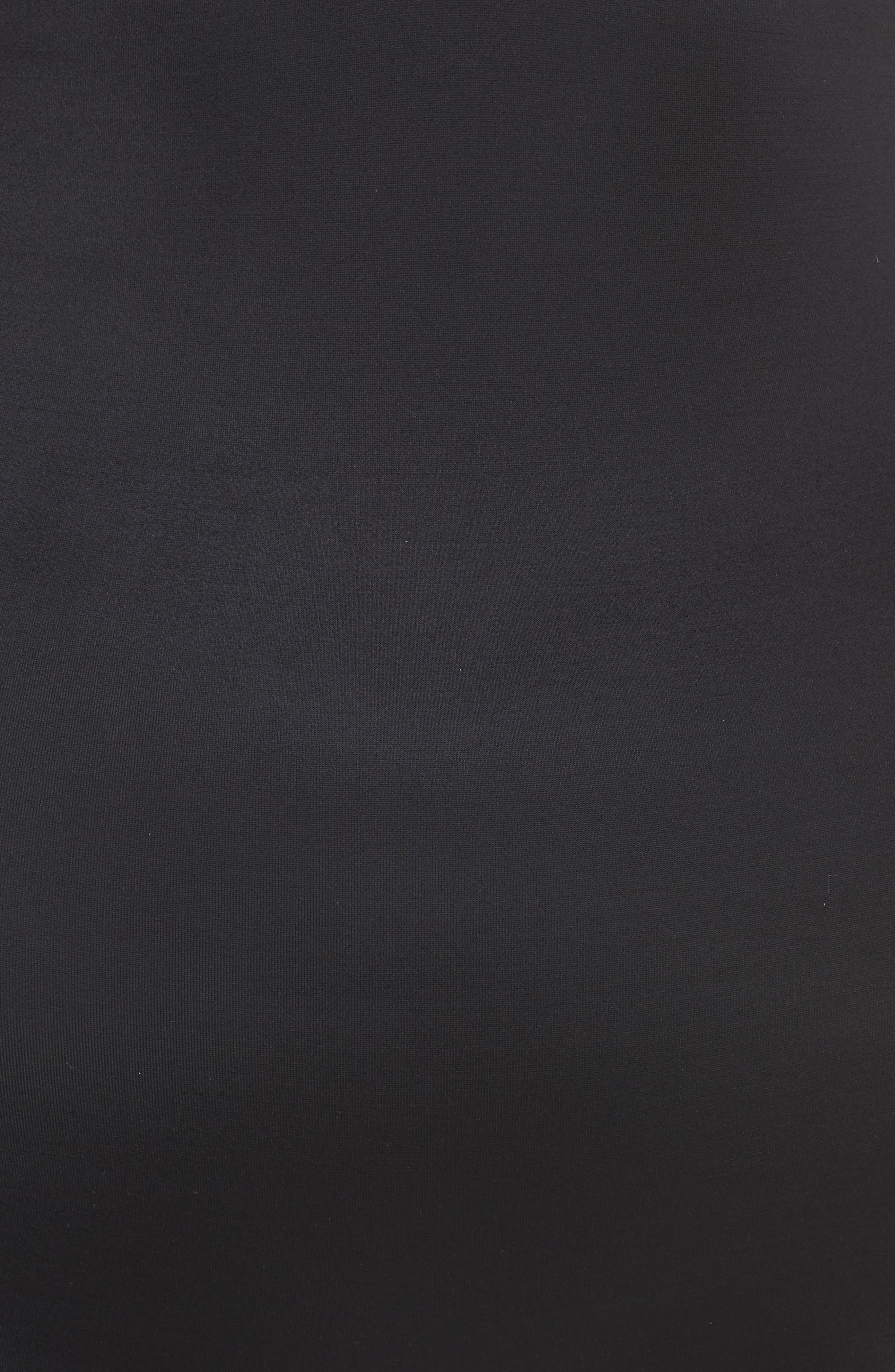 Suit Your Fancy Plunge Low-Back Mid-Thigh Bodysuit,                             Alternate thumbnail 6, color,                             VERY BLACK