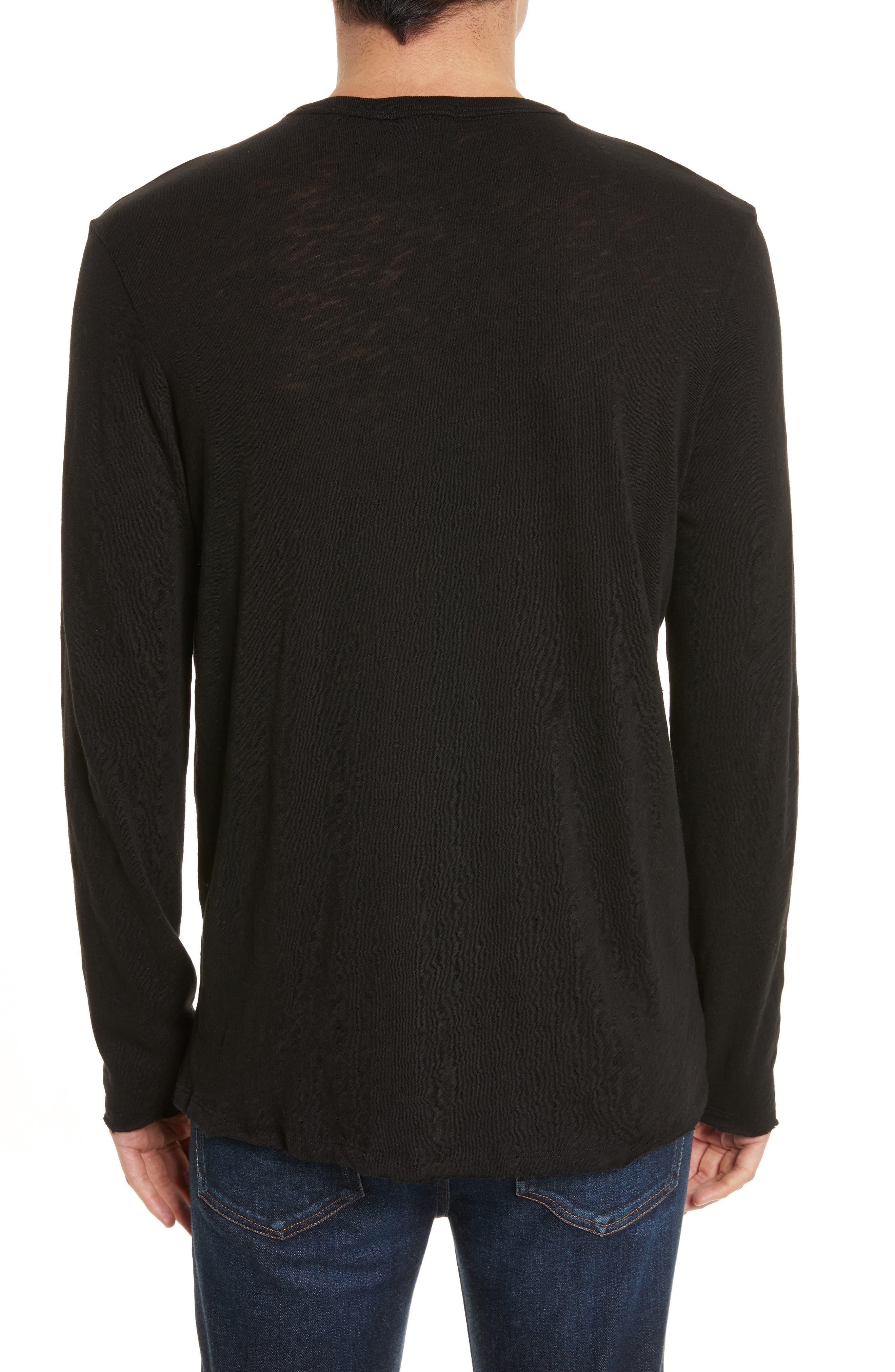 Destroyed Long Sleeve T-Shirt,                             Alternate thumbnail 2, color,                             BLACK