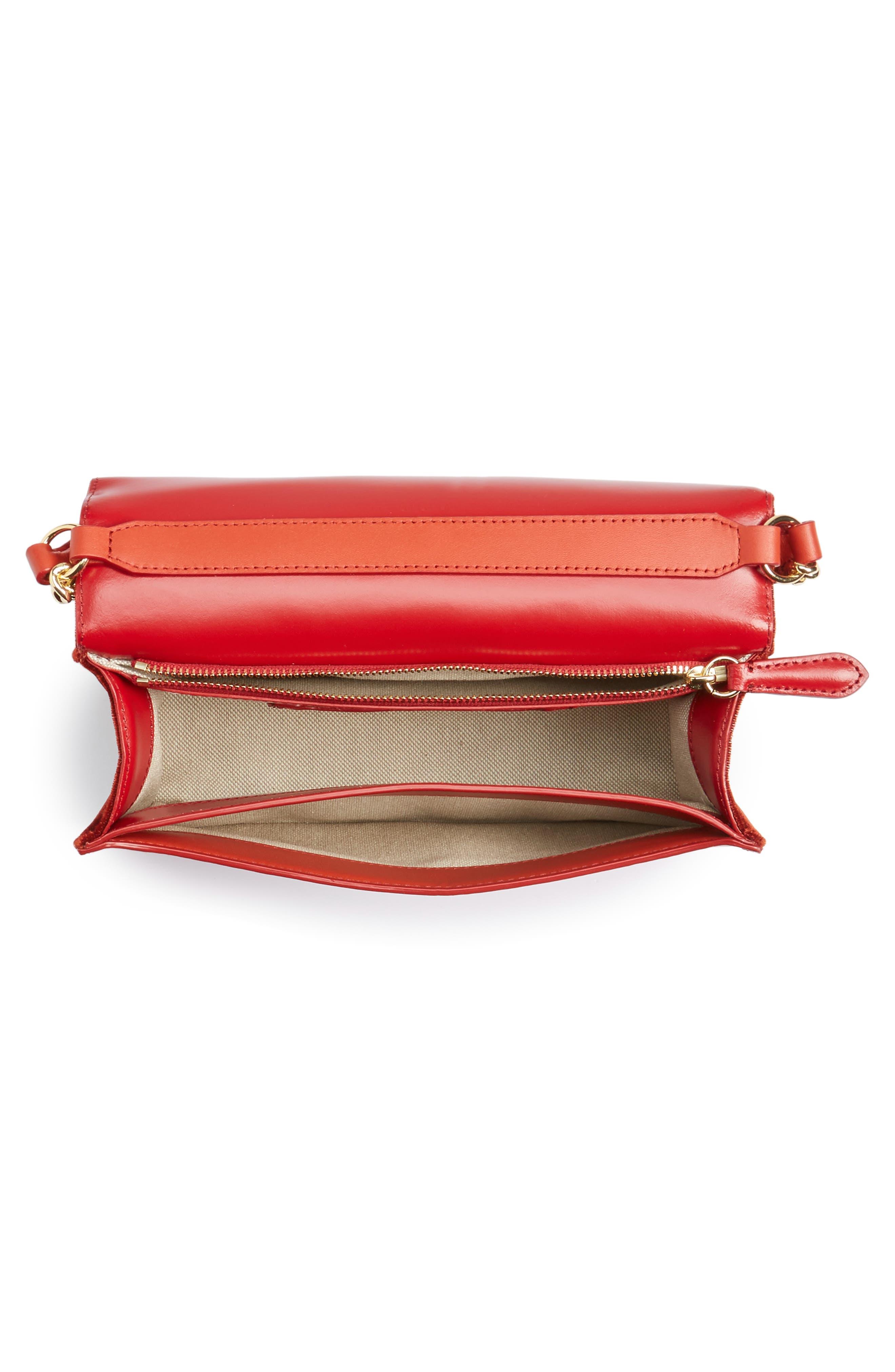 Soirée Velvet Top Handle Bag,                             Alternate thumbnail 4, color,