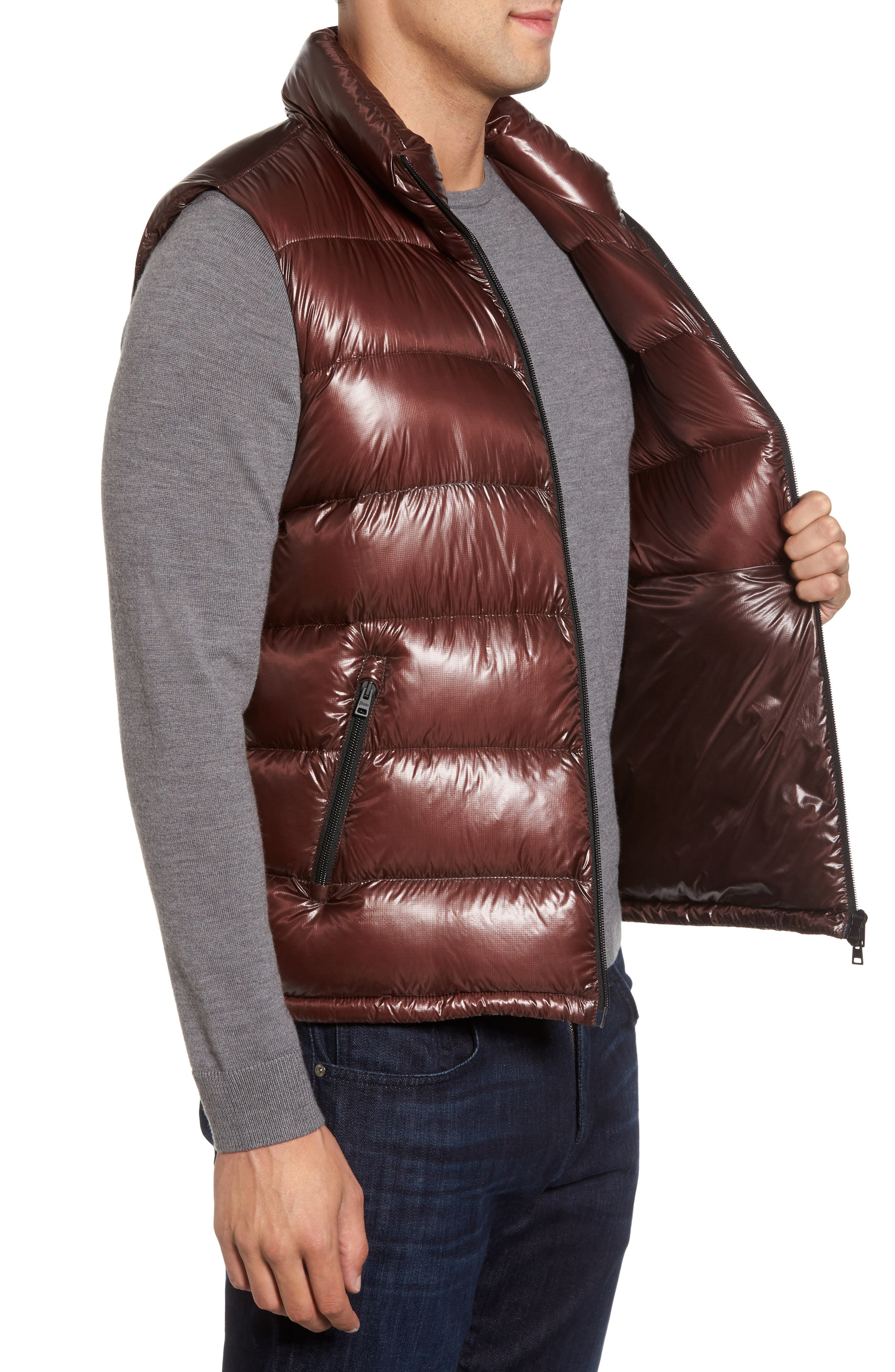 Quilted Down Vest,                             Alternate thumbnail 3, color,                             201