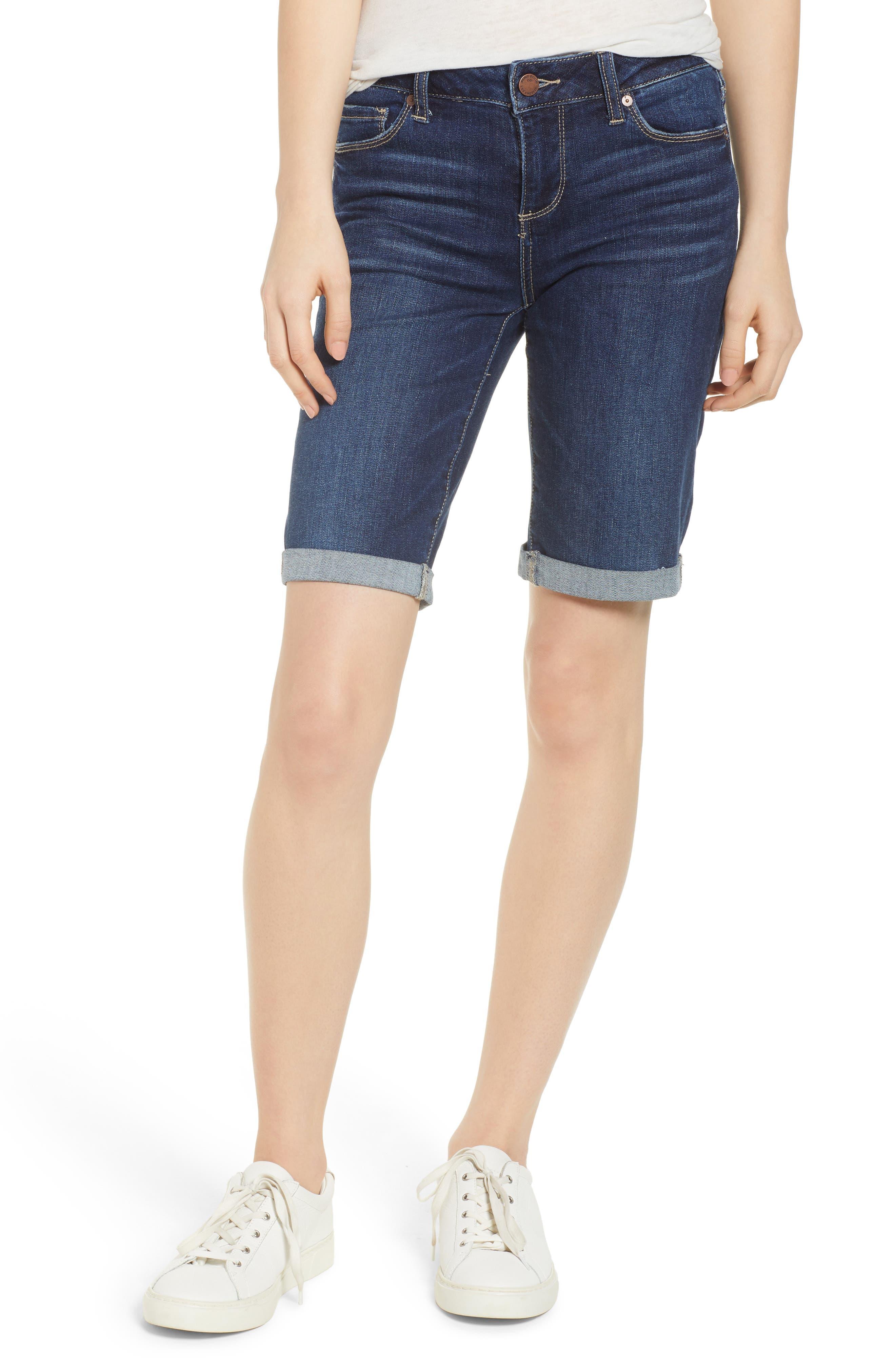 Transcend Vintage - Jax Denim Bermuda Shorts,                             Main thumbnail 1, color,                             400