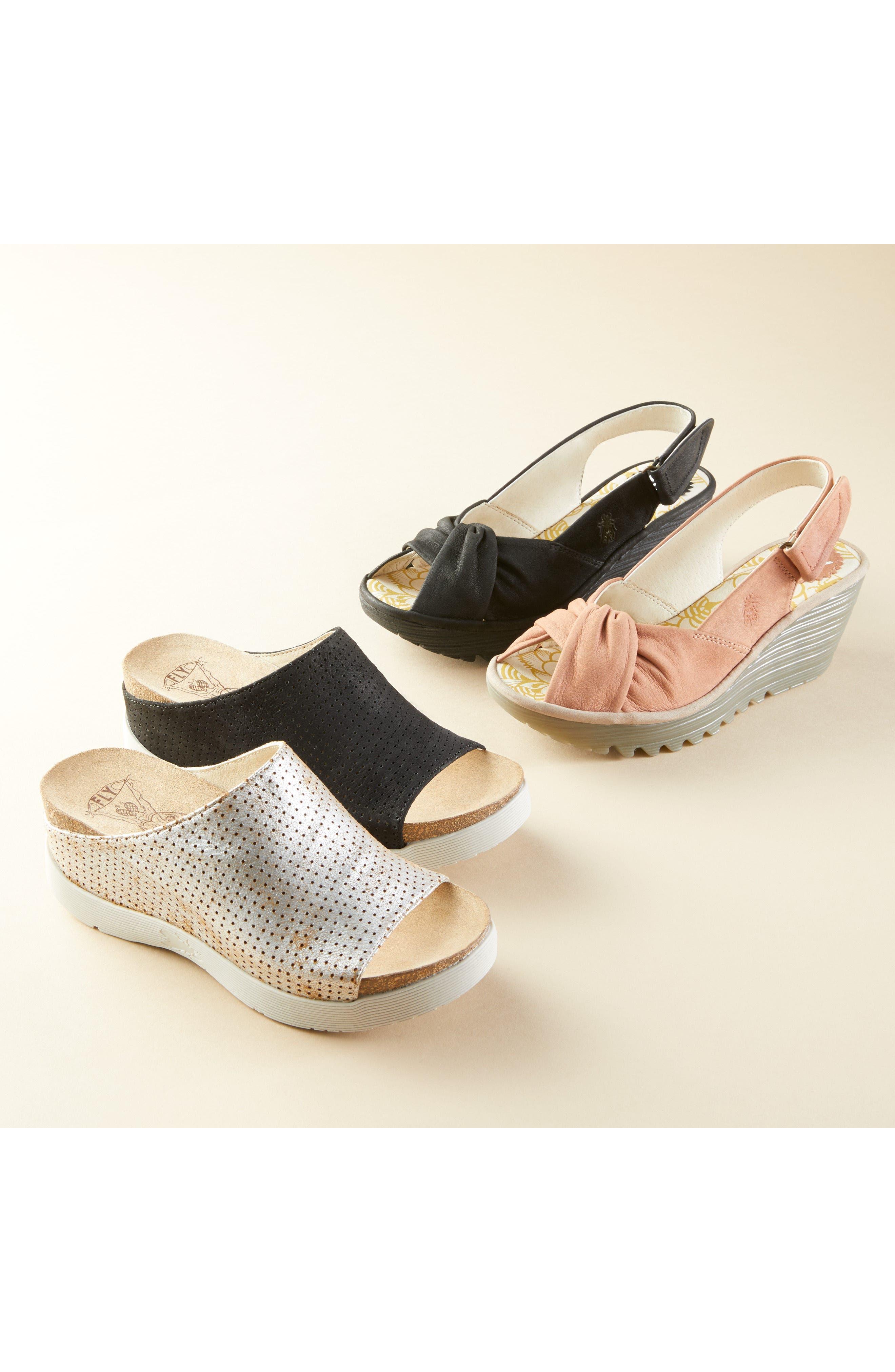 Whin Platform Sandal,                             Alternate thumbnail 7, color,                             BLACK CUPIDO LEATHER