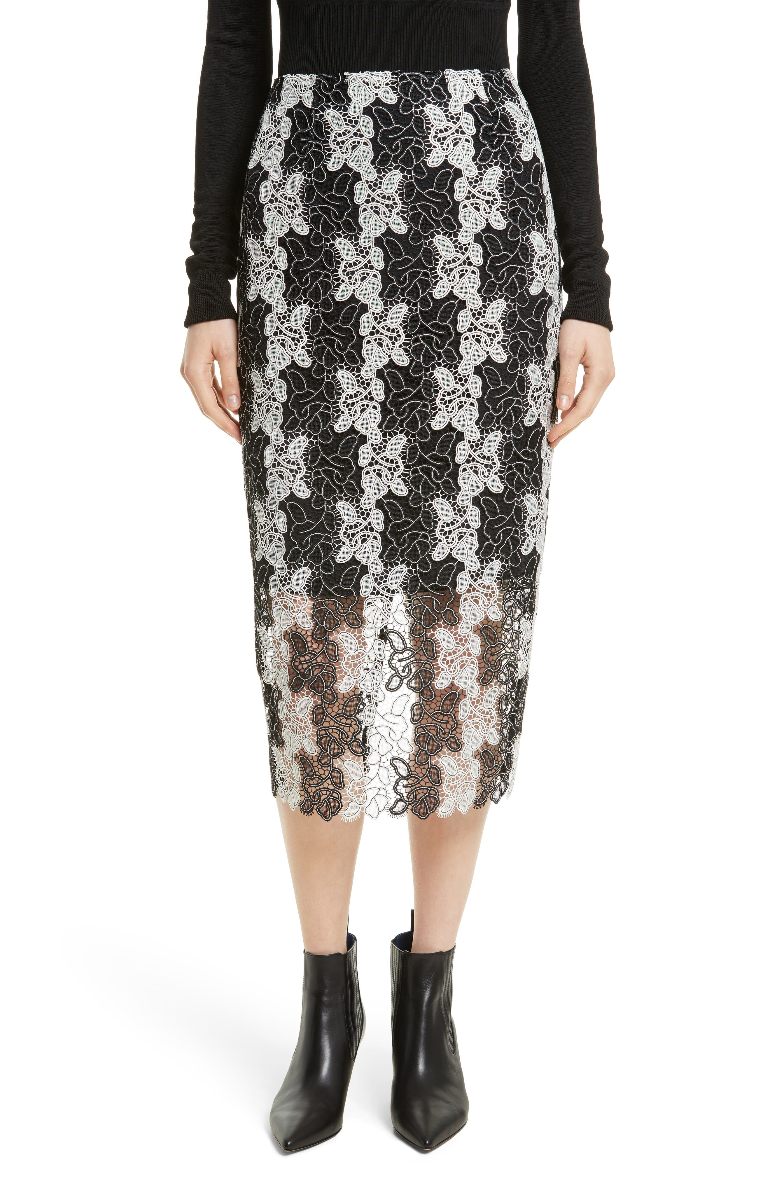 Lace Midi Skirt,                             Main thumbnail 1, color,