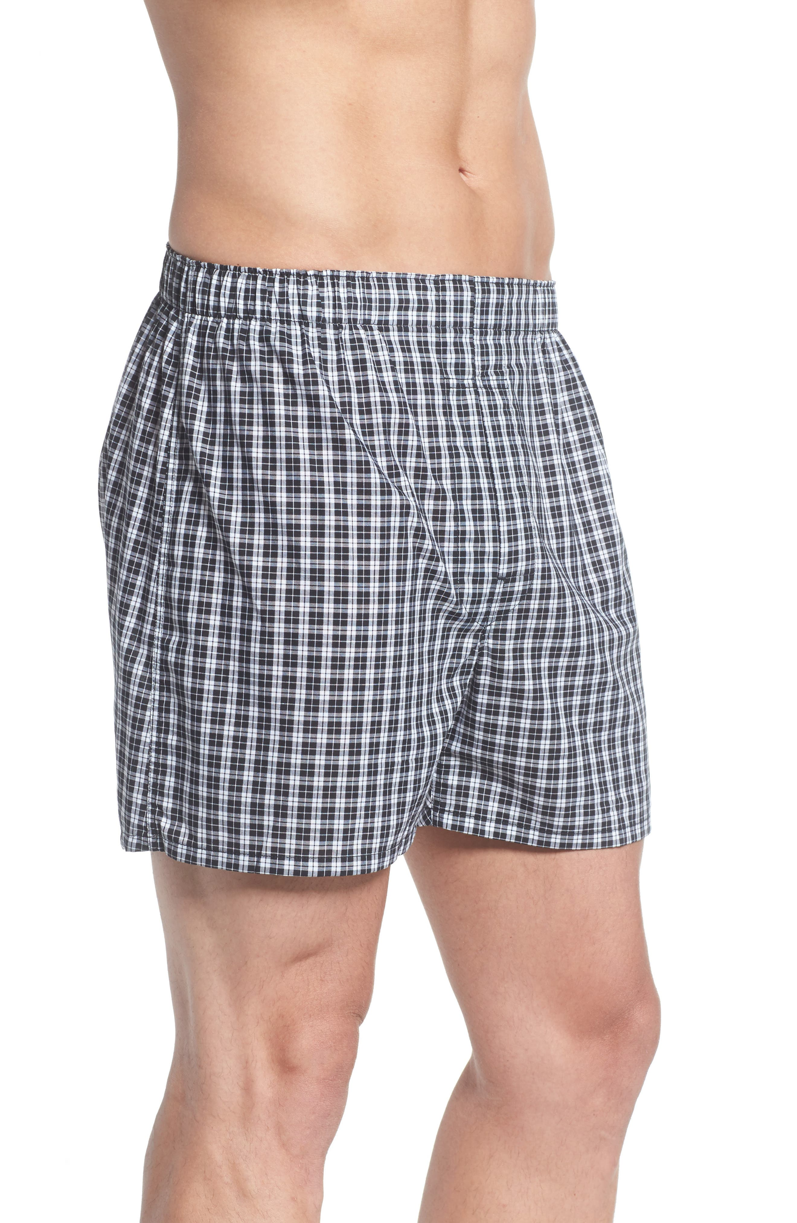 Assorted 3-Pack Woven Cotton Boxers,                             Alternate thumbnail 4, color,                             003