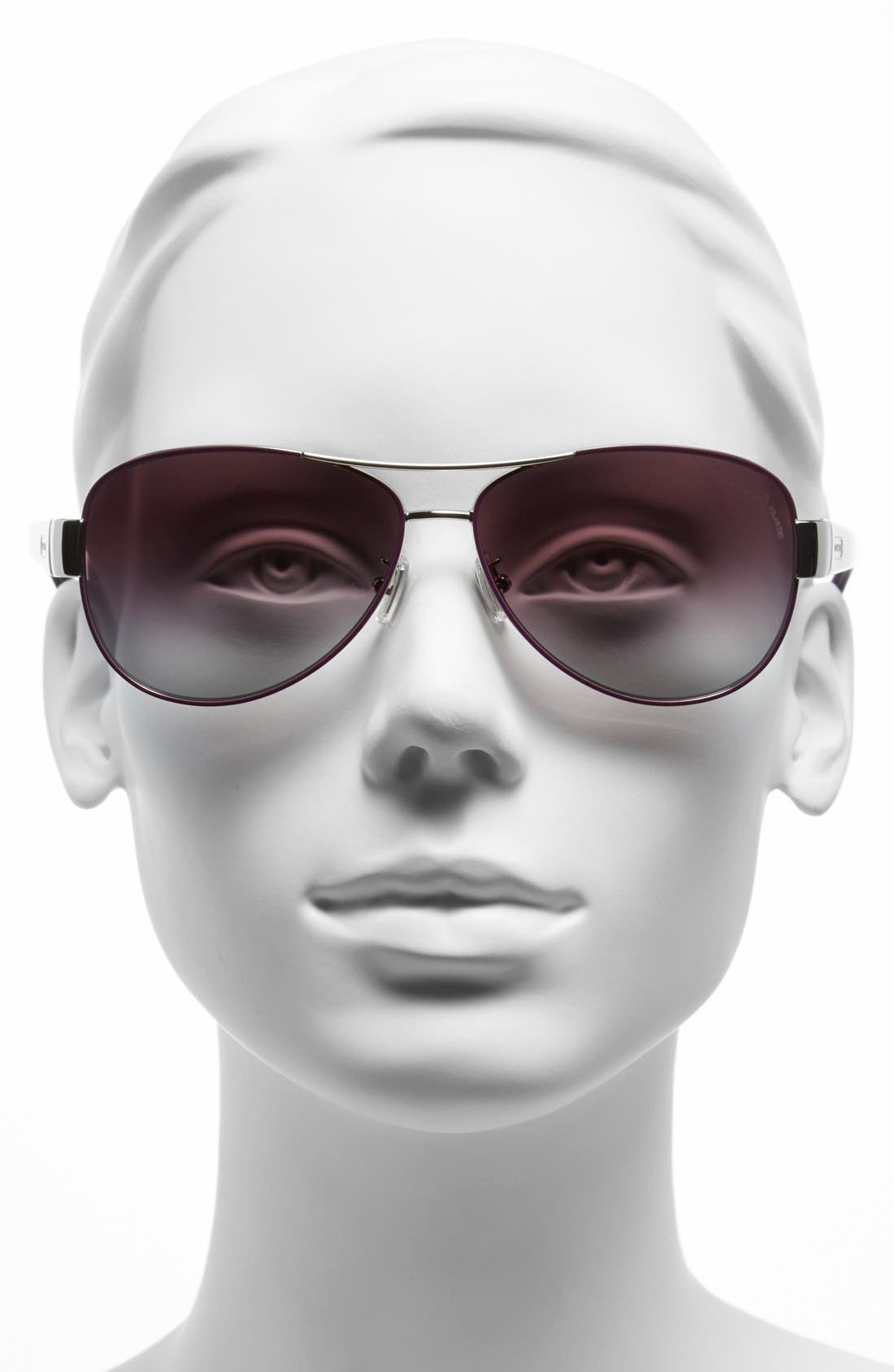 59mm Double Bridge Polarized Aviator Sunglasses,                             Alternate thumbnail 2, color,                             040