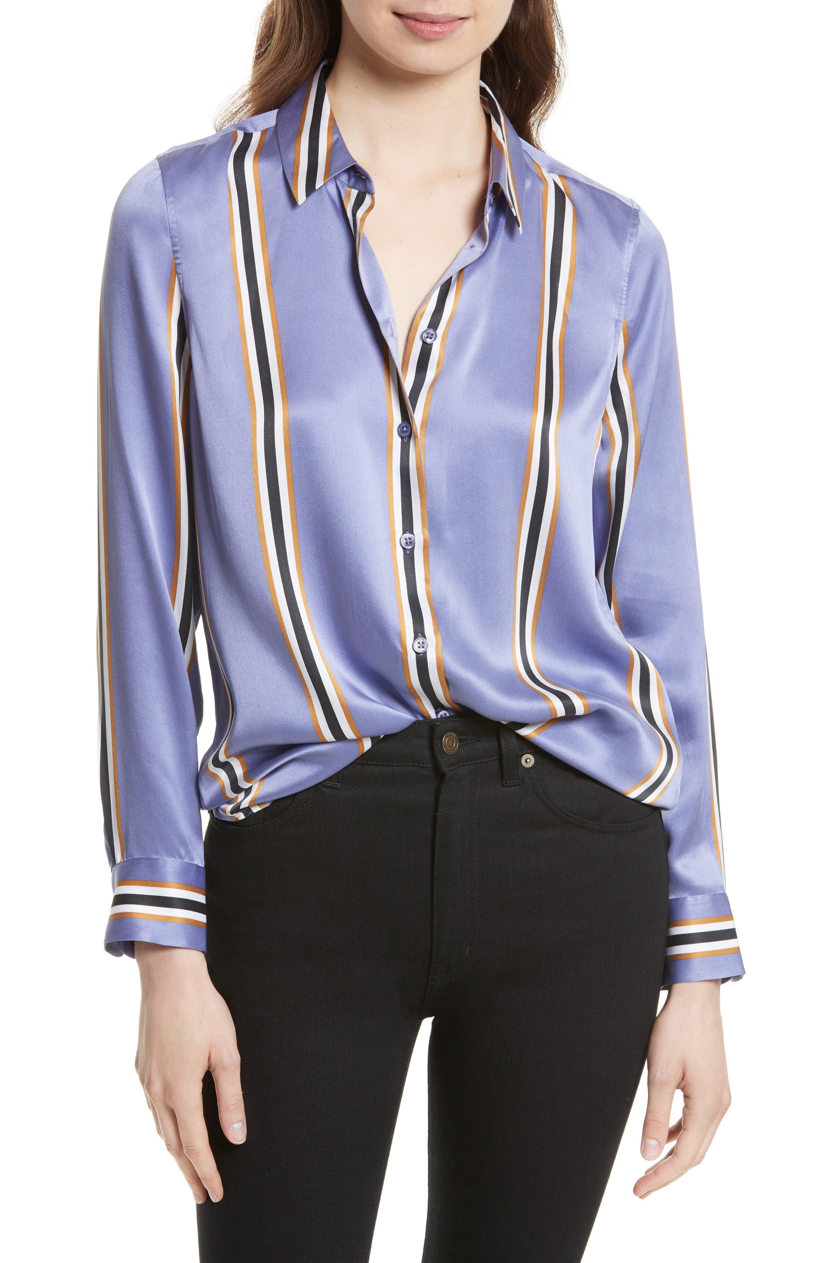Essential Print Silk Shirt,                             Main thumbnail 1, color,                             549