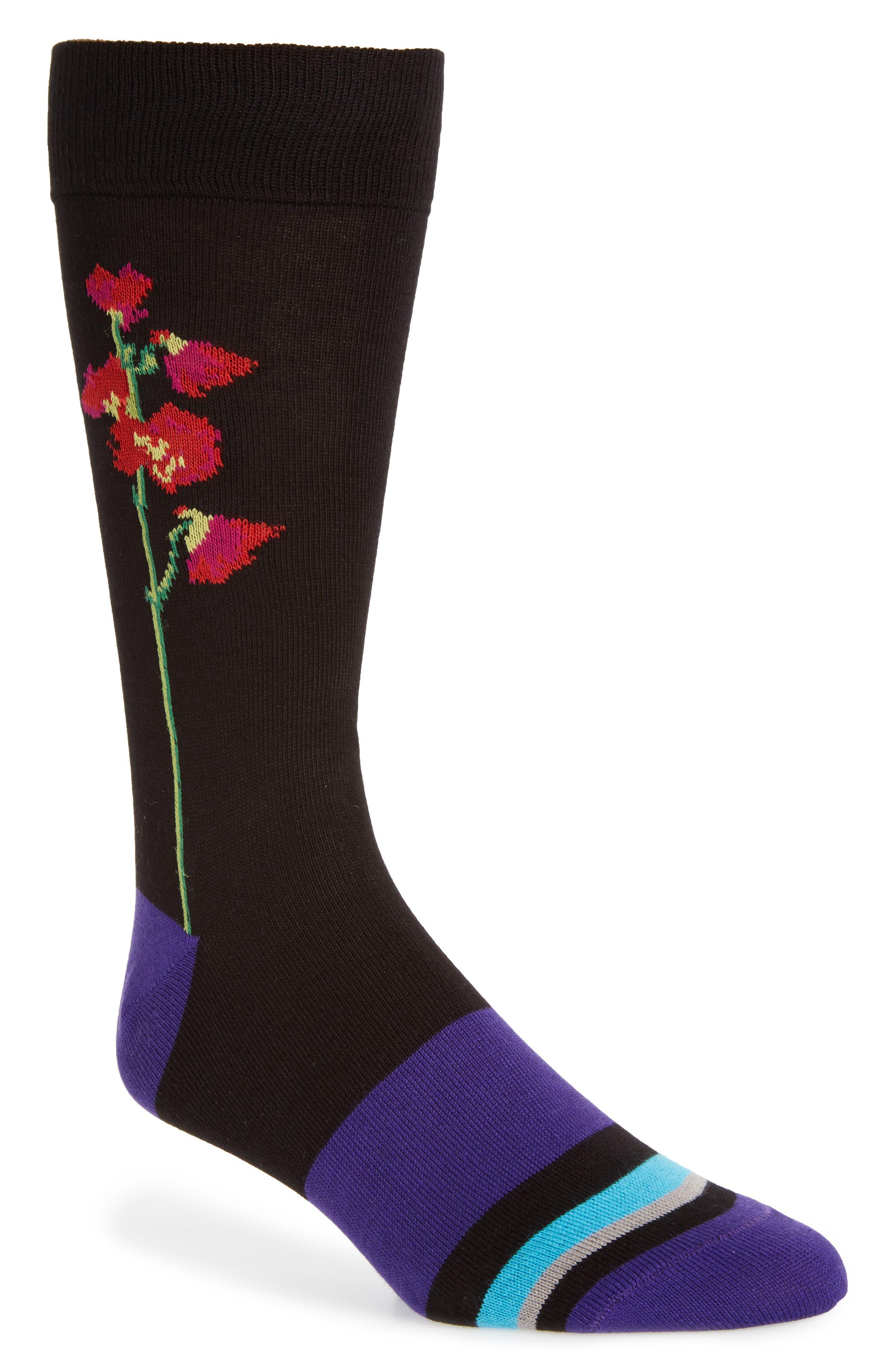 Mainline Floral Socks,                             Main thumbnail 1, color,