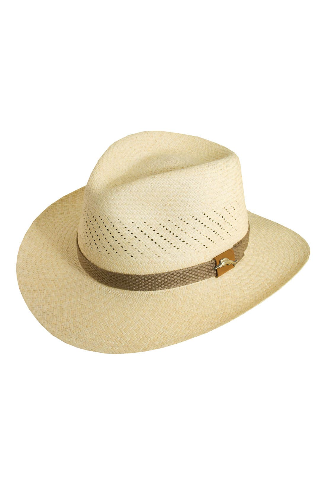 Safari Panama Straw Fedora,                             Main thumbnail 1, color,                             NATURAL
