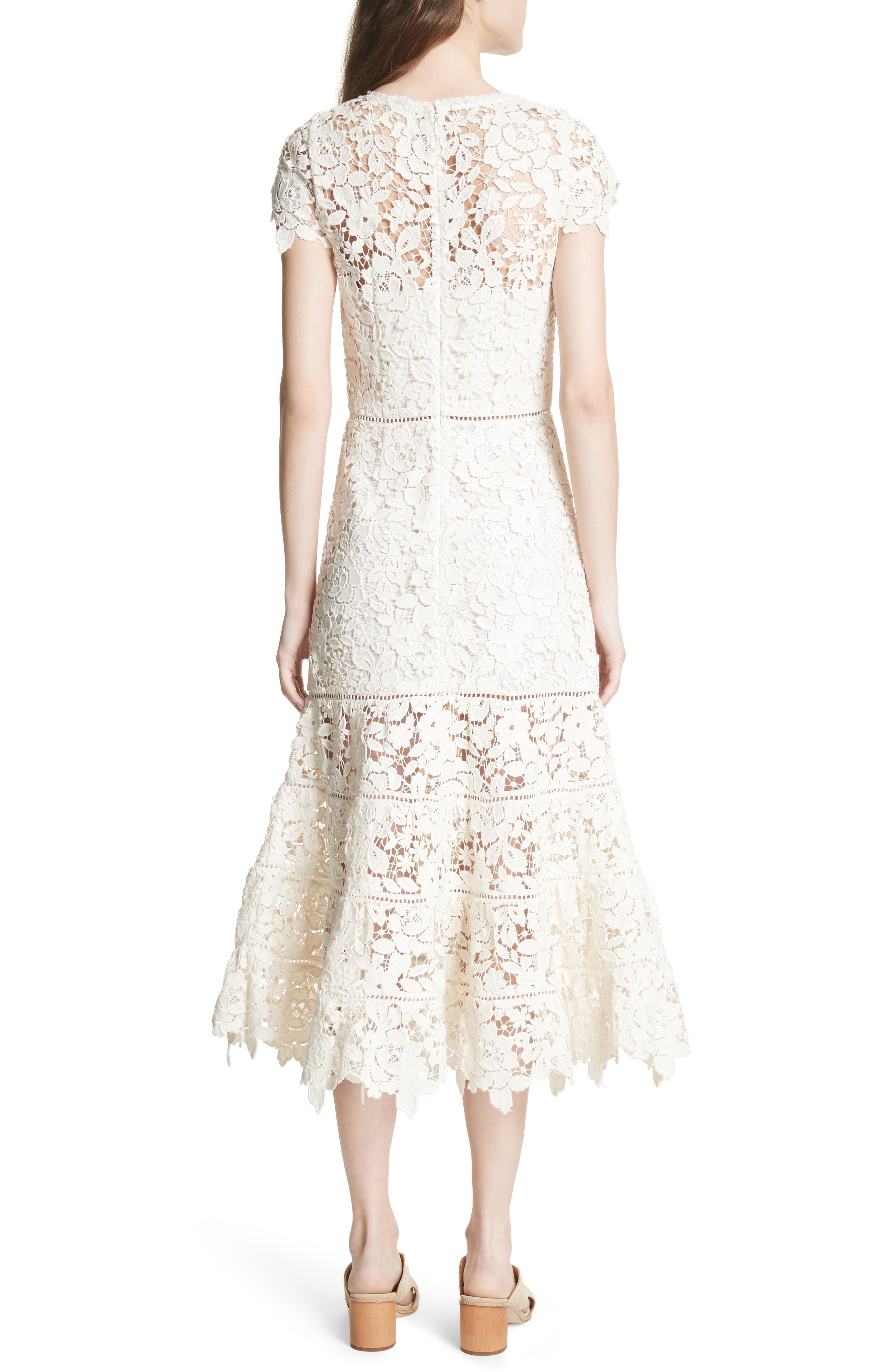 Celedonia Scallop Lace Dress,                             Alternate thumbnail 2, color,                             120