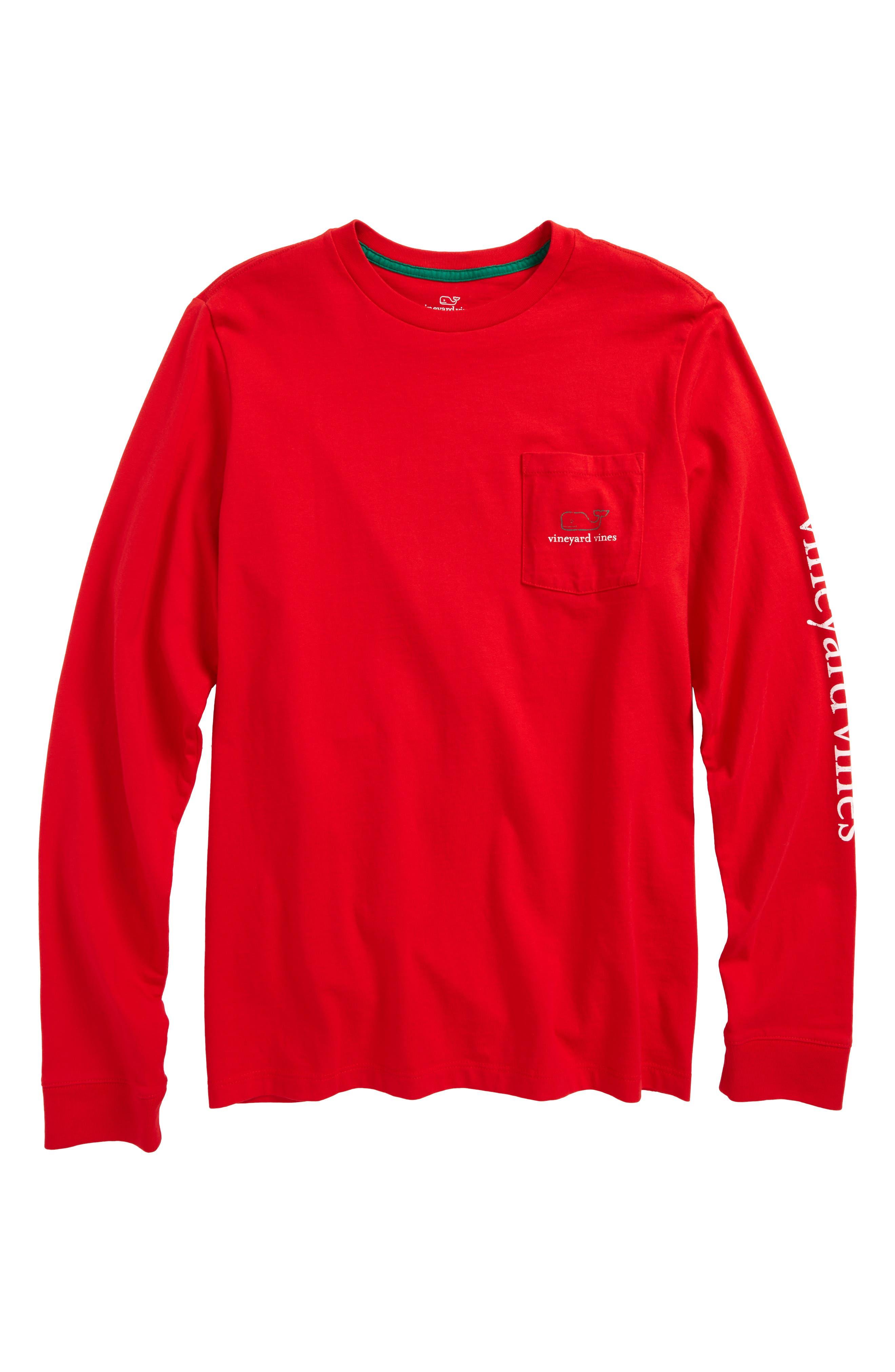 Vintage Whale Long Sleeve Pocket T-Shirt,                             Main thumbnail 3, color,