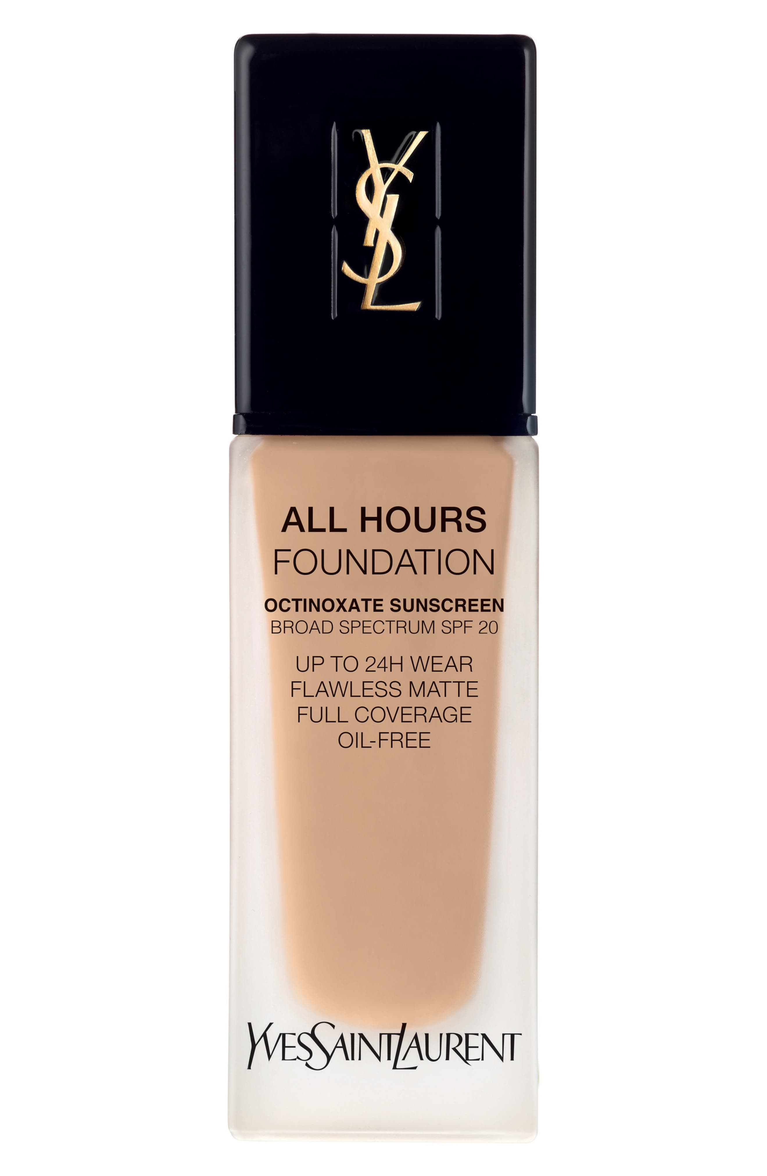 Yves Saint Laurent All Hours Full Coverage Matte Foundation Spf 20 - Bd30 Warm Almond