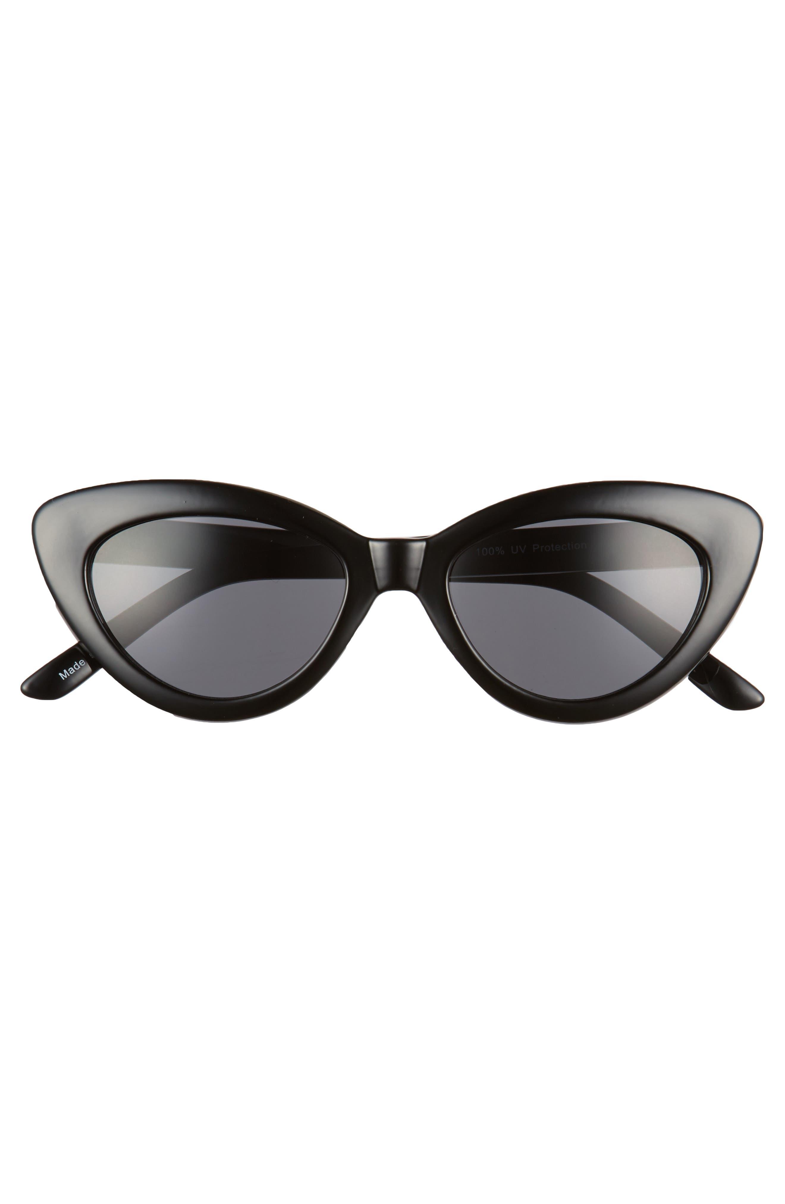 51mm Mini Cat Eye Sunglasses,                             Alternate thumbnail 3, color,                             001