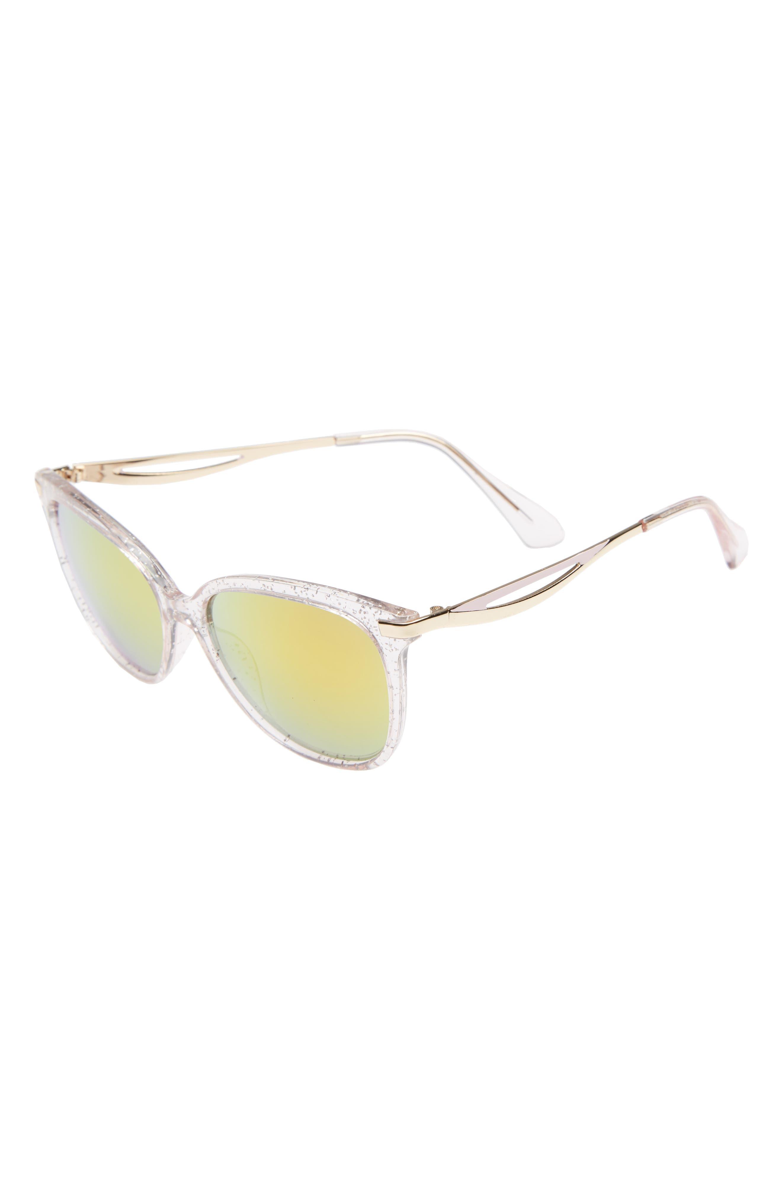 FANTASEYES Fantas Eyes Sadie 45mm Glitter Sunglasses, Main, color, 650