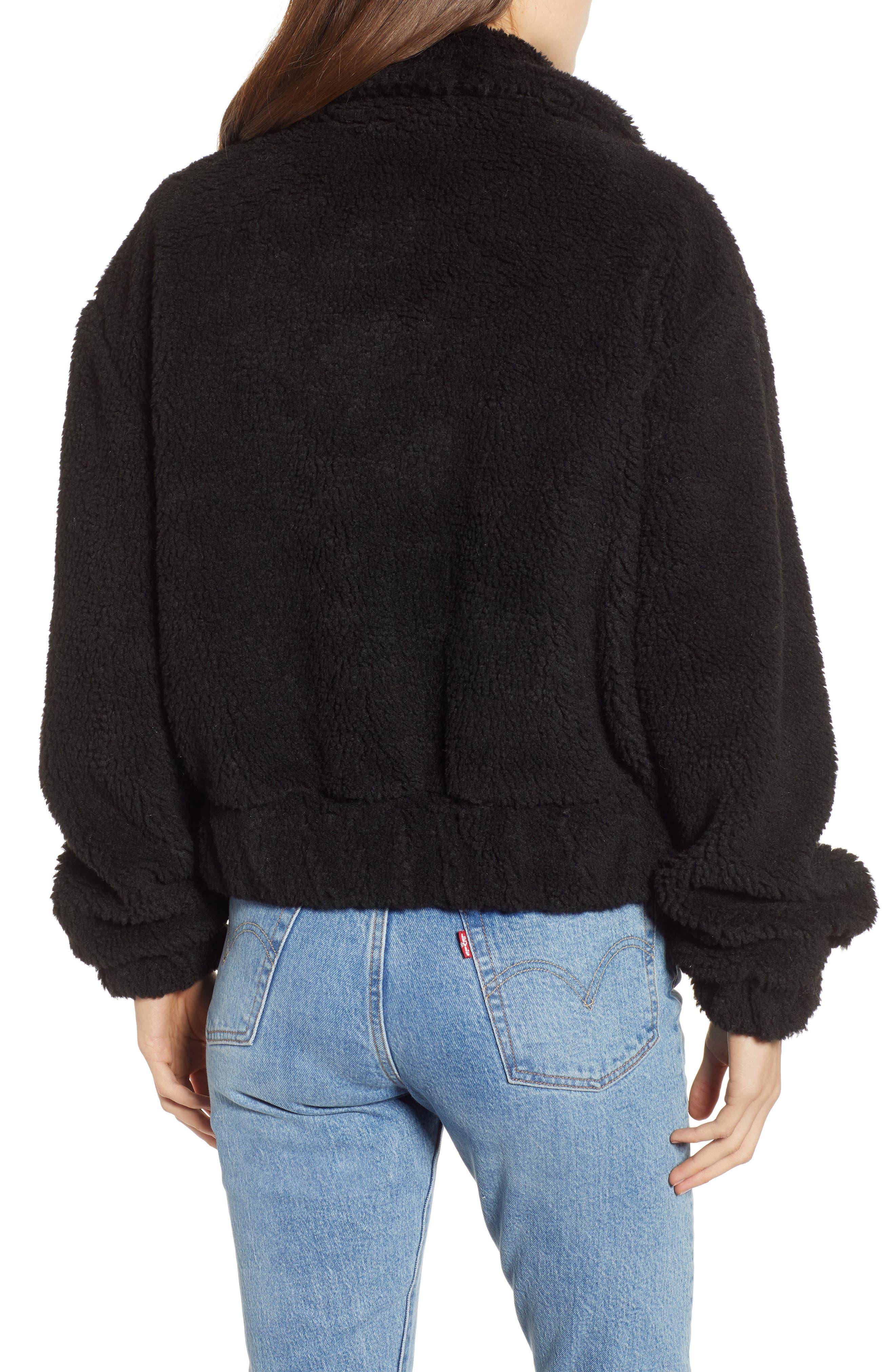 Northy Faux Fur Jacket,                             Alternate thumbnail 2, color,                             BLACK