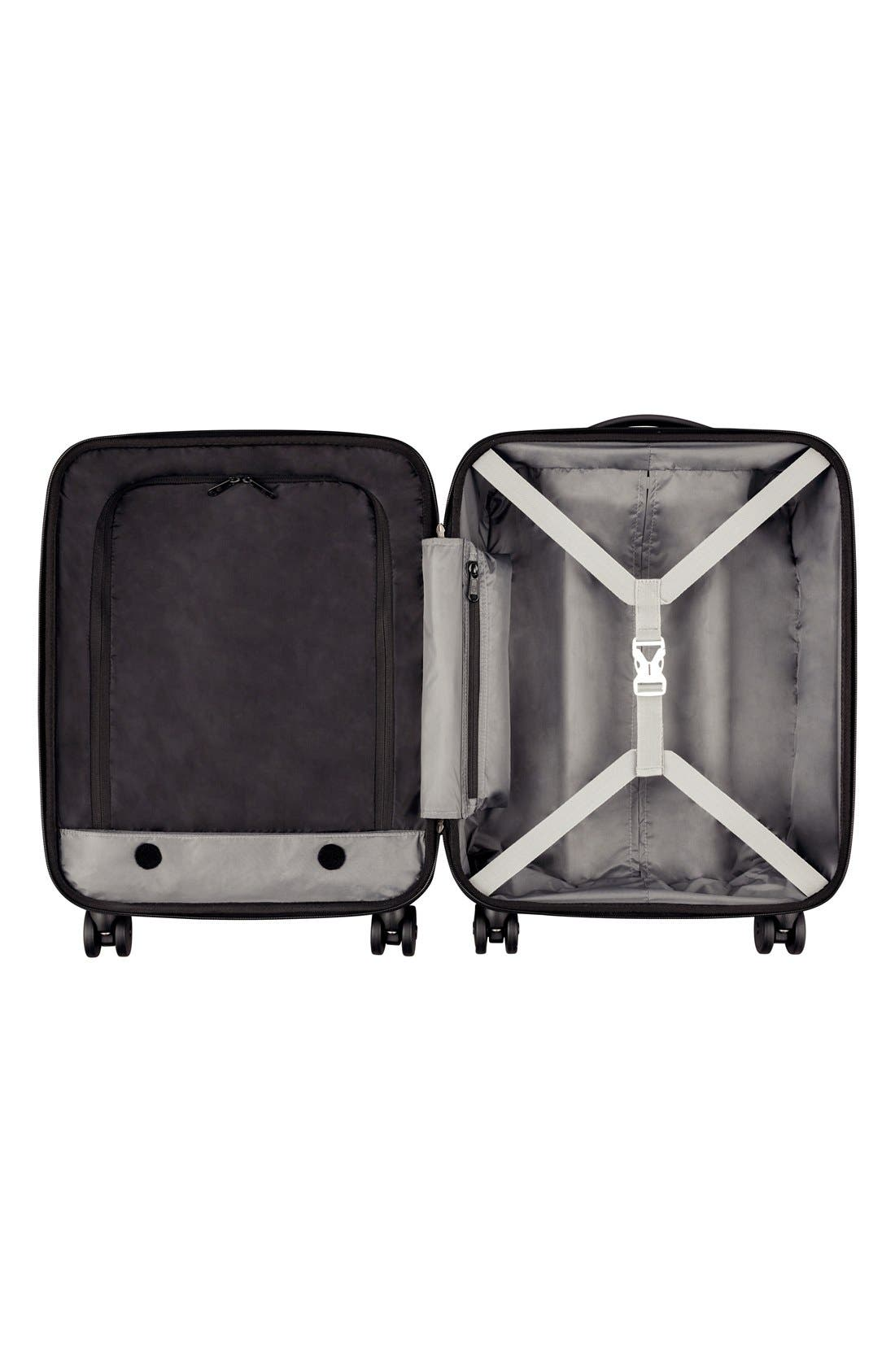 VICTORINOX SWISS ARMY<SUP>®</SUP>,                             Spectra 2.0 Dual Access Global Hard Sided Rolling 22-Inch Carry-On,                             Alternate thumbnail 2, color,                             BLACK