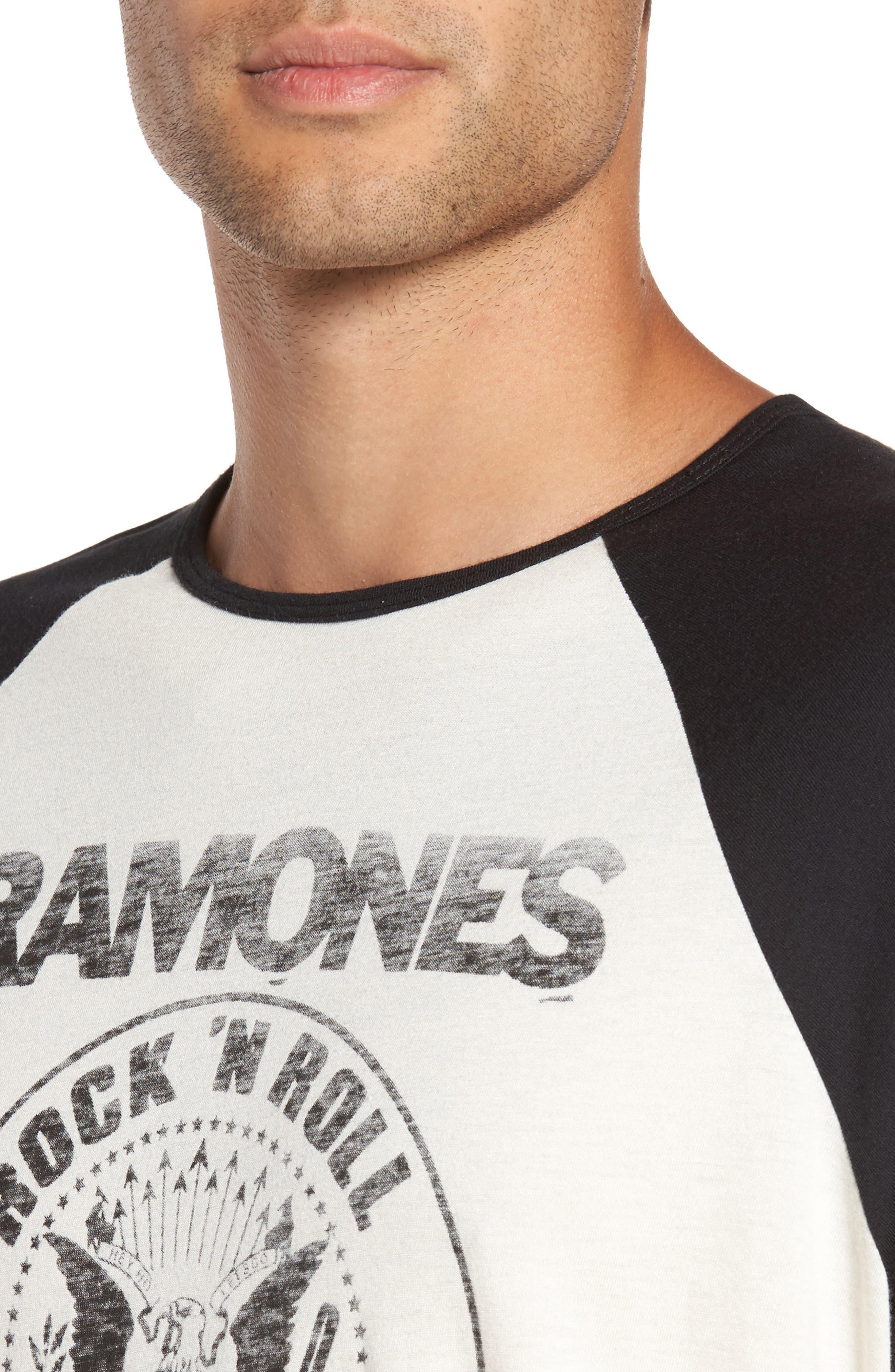Ramones Rock N Roll High School Graphic T-Shirt,                             Alternate thumbnail 4, color,                             103