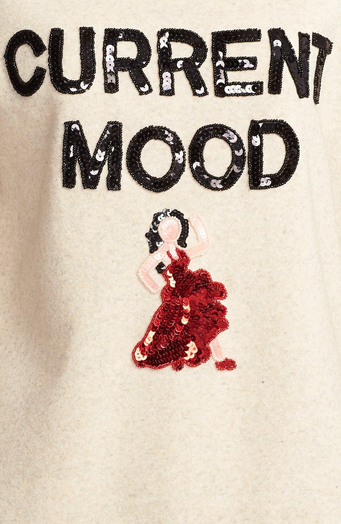 'Current Mood' Sequin Sweatshirt,                             Alternate thumbnail 3, color,                             020