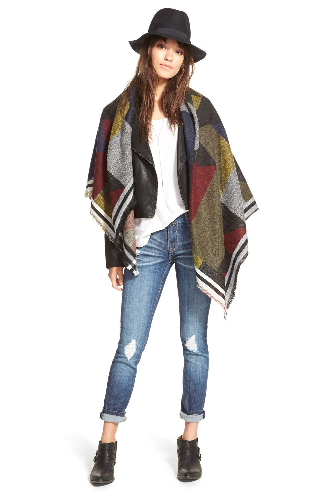 Colorblock Blanket Scarf,                             Alternate thumbnail 5, color,                             410