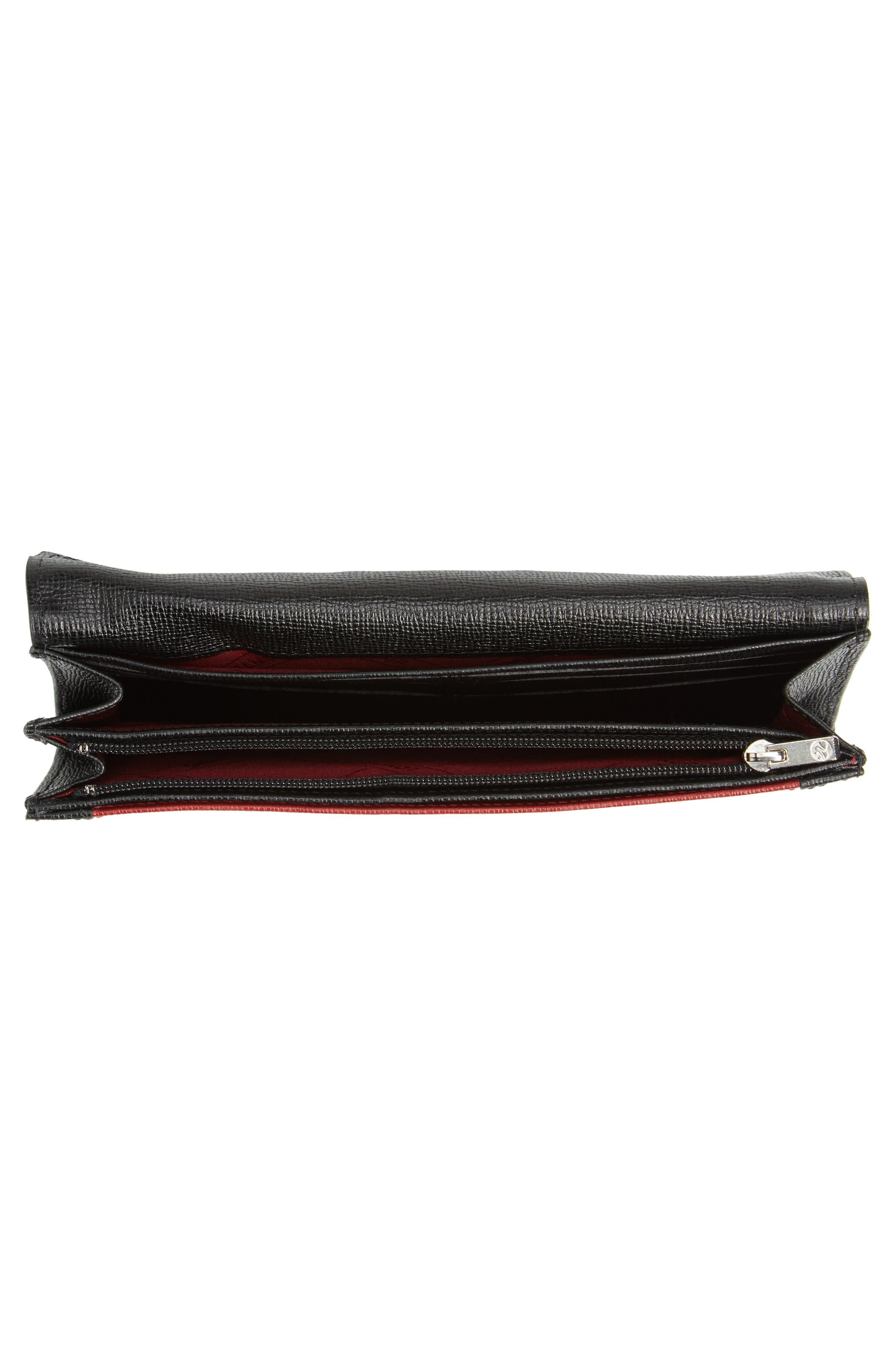 Effrontée Leather Wallet,                             Alternate thumbnail 4, color,