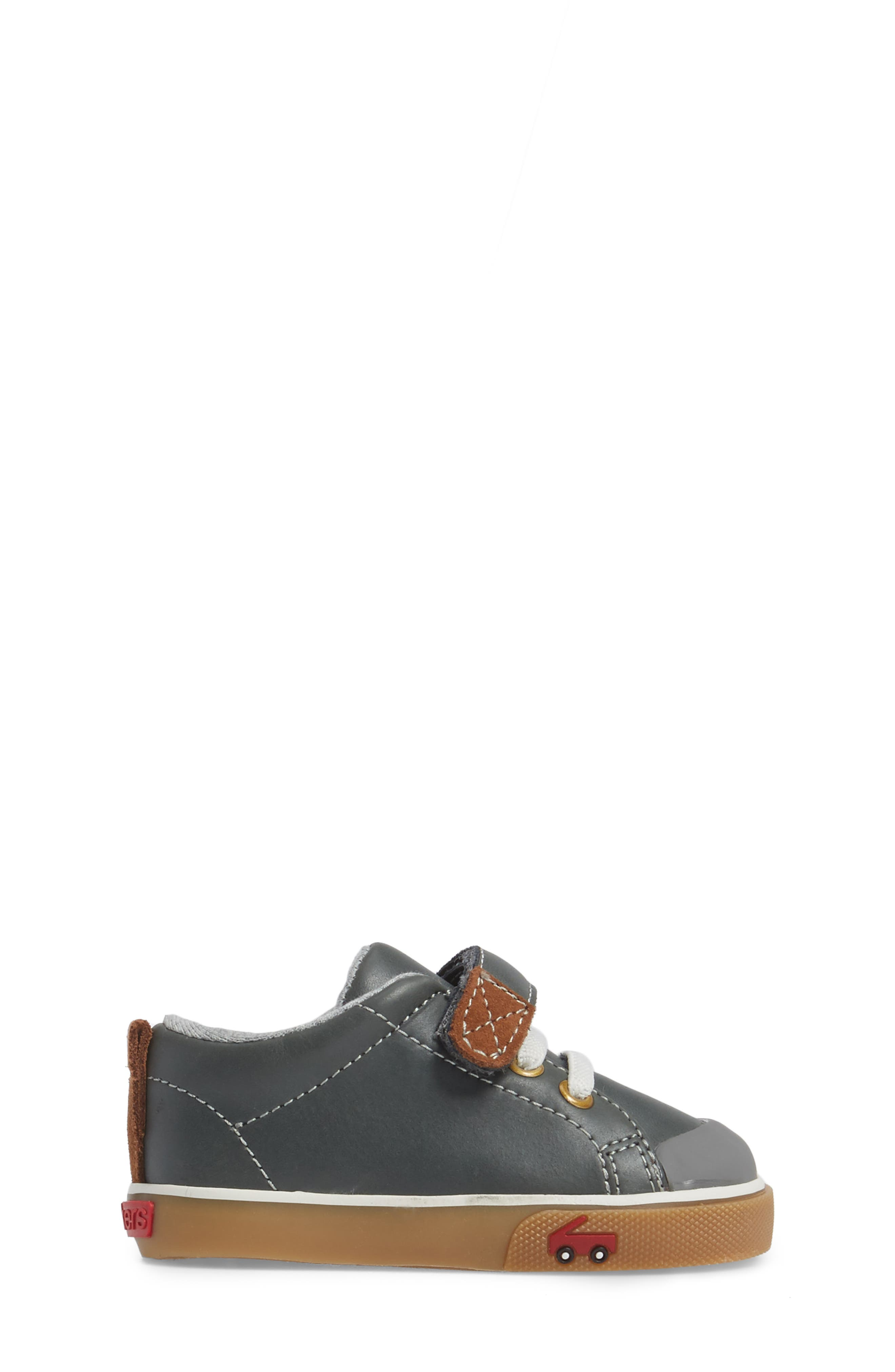 Stevie II Sneaker,                             Alternate thumbnail 3, color,                             GREY LEATHER