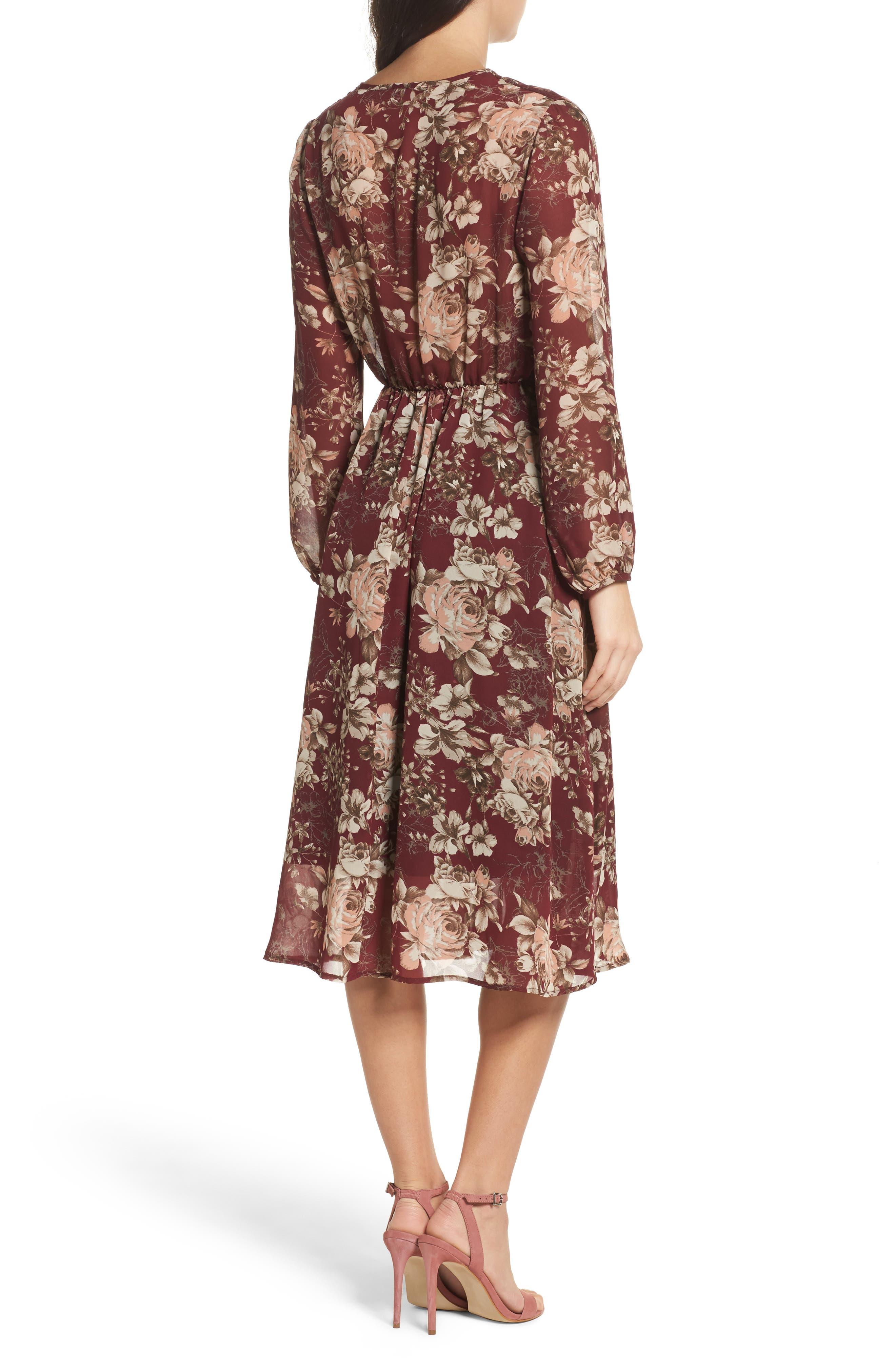 Blouson Midi Dress,                             Alternate thumbnail 2, color,