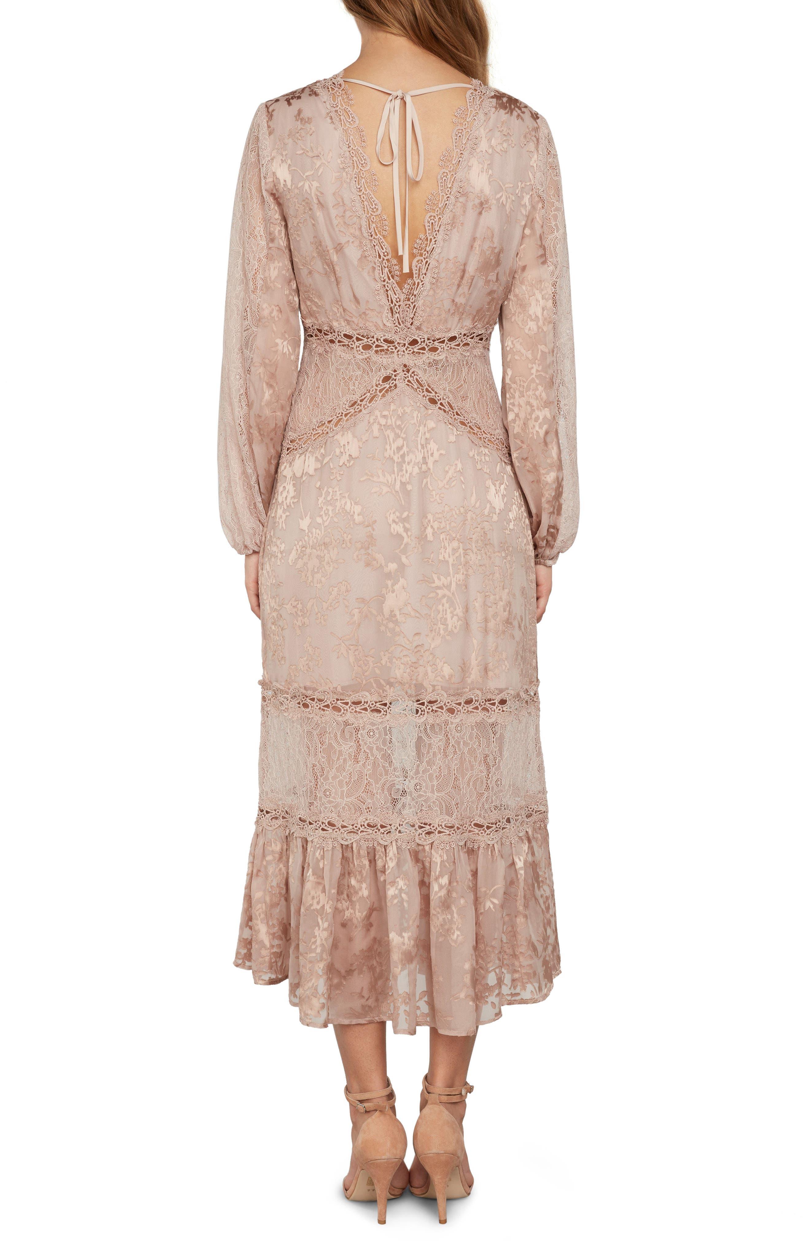 Lace Midi Dress,                             Alternate thumbnail 2, color,                             651