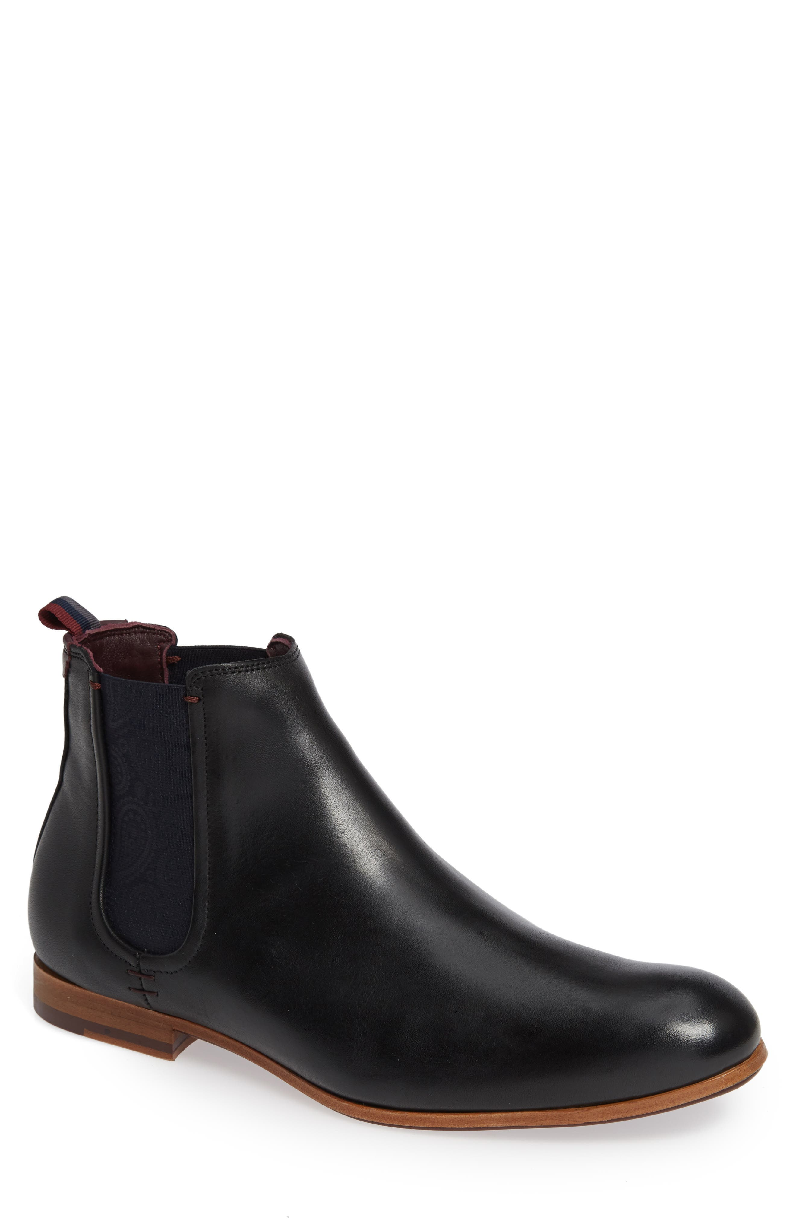 Whron Chelsea Boot,                             Main thumbnail 1, color,                             BLACK