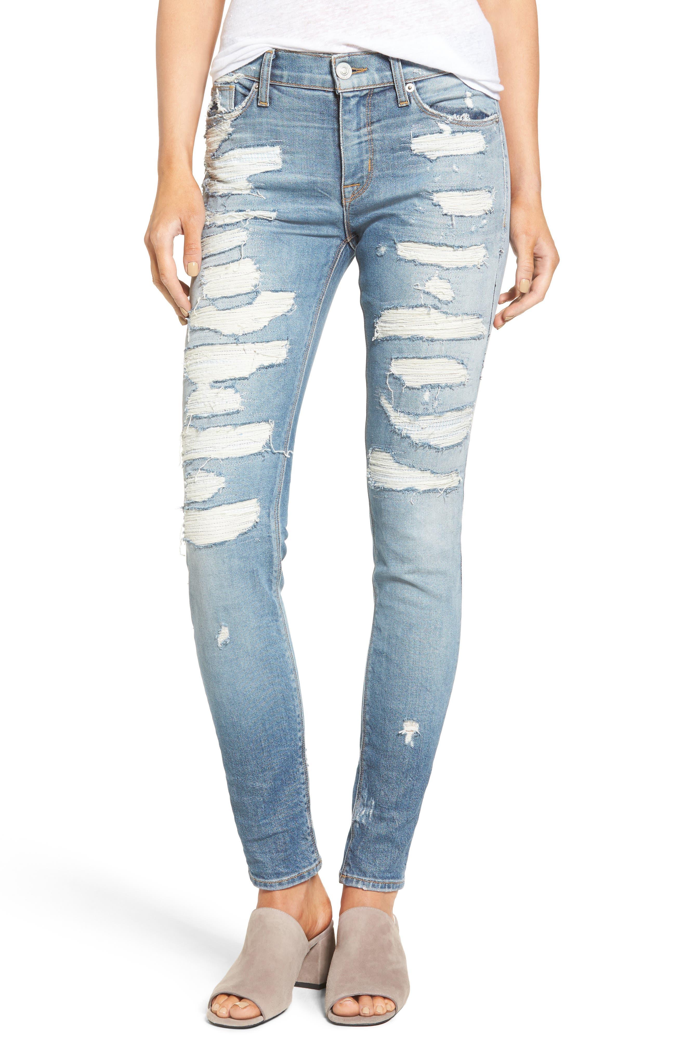 Nico Shredded Skinny Jeans,                             Main thumbnail 2, color,