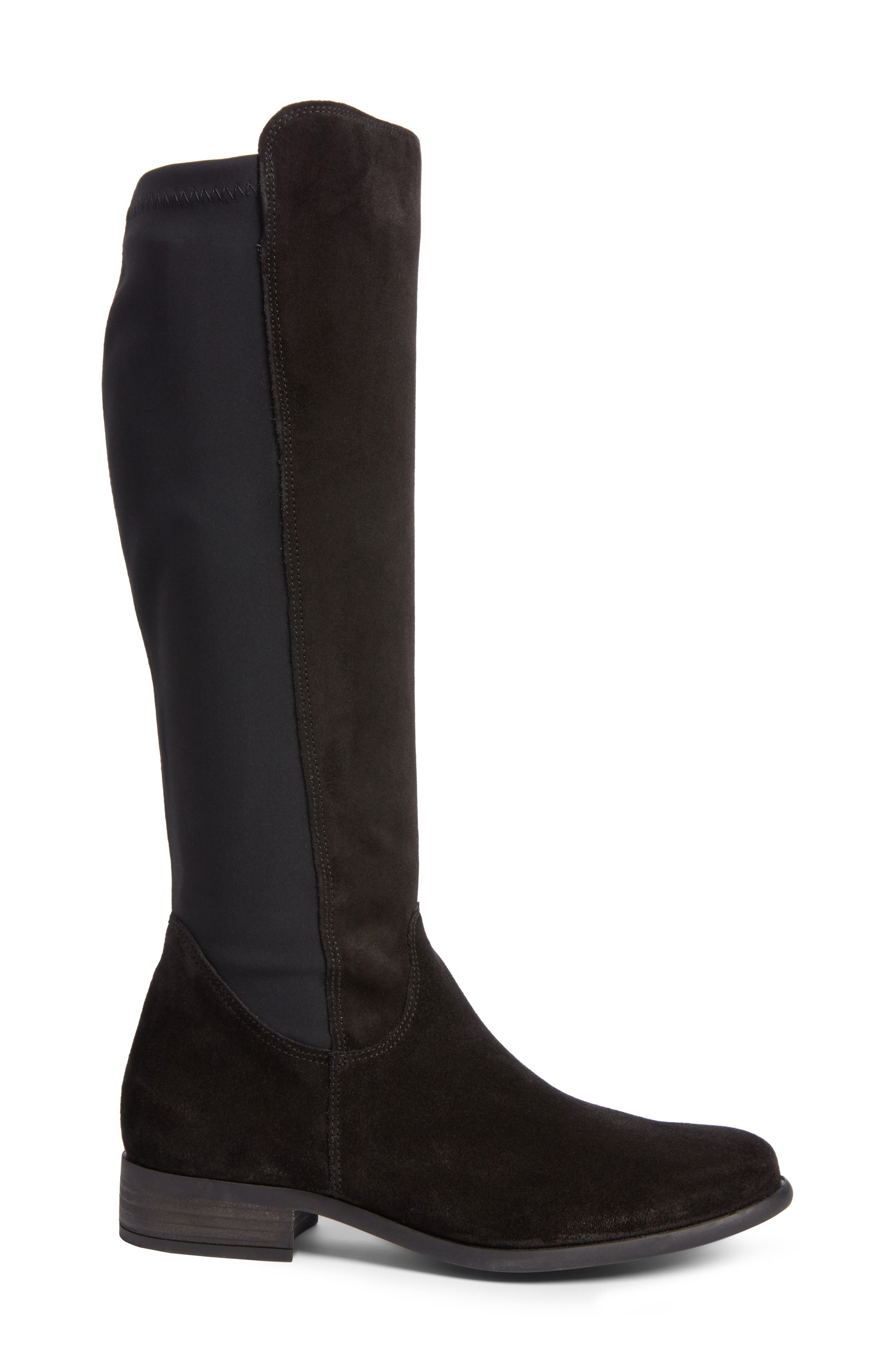 Nola Tall Water Resistant Boot,                             Alternate thumbnail 3, color,                             009