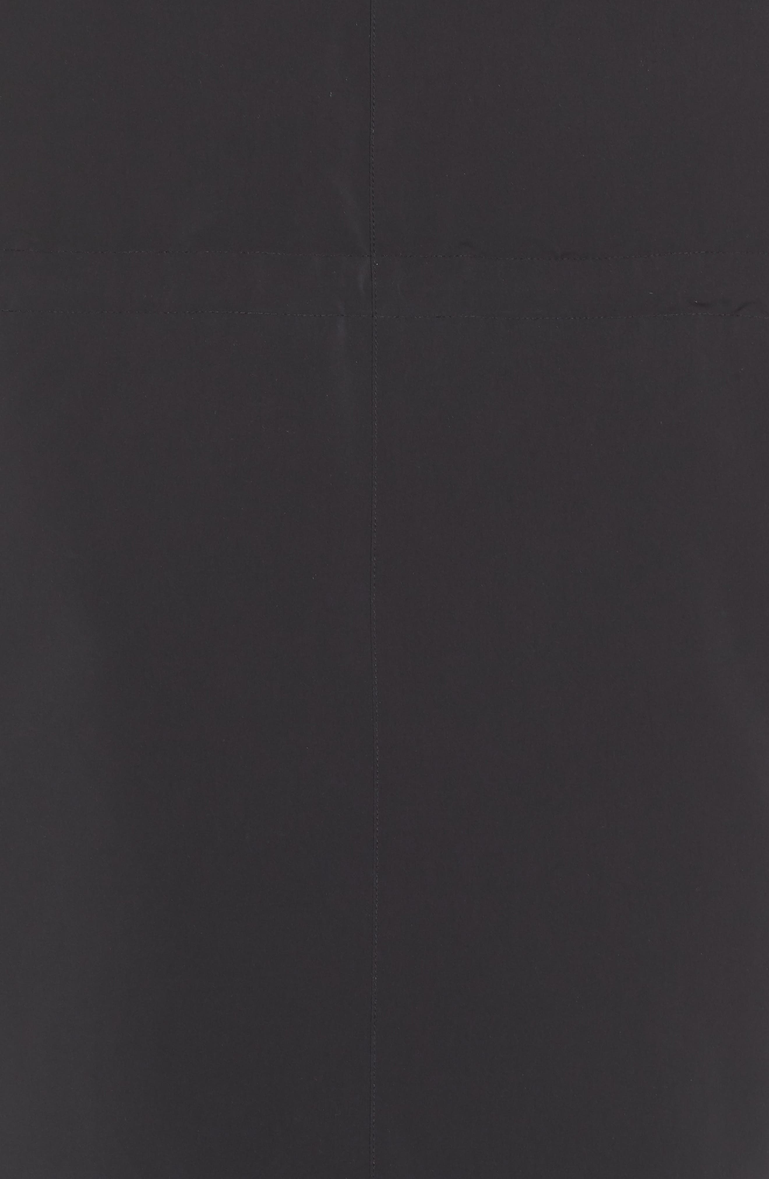 Sportswear Tech Pack Women's Down Fill Parka,                             Alternate thumbnail 8, color,                             BLACK/ NEWSPRINT/ BLACK