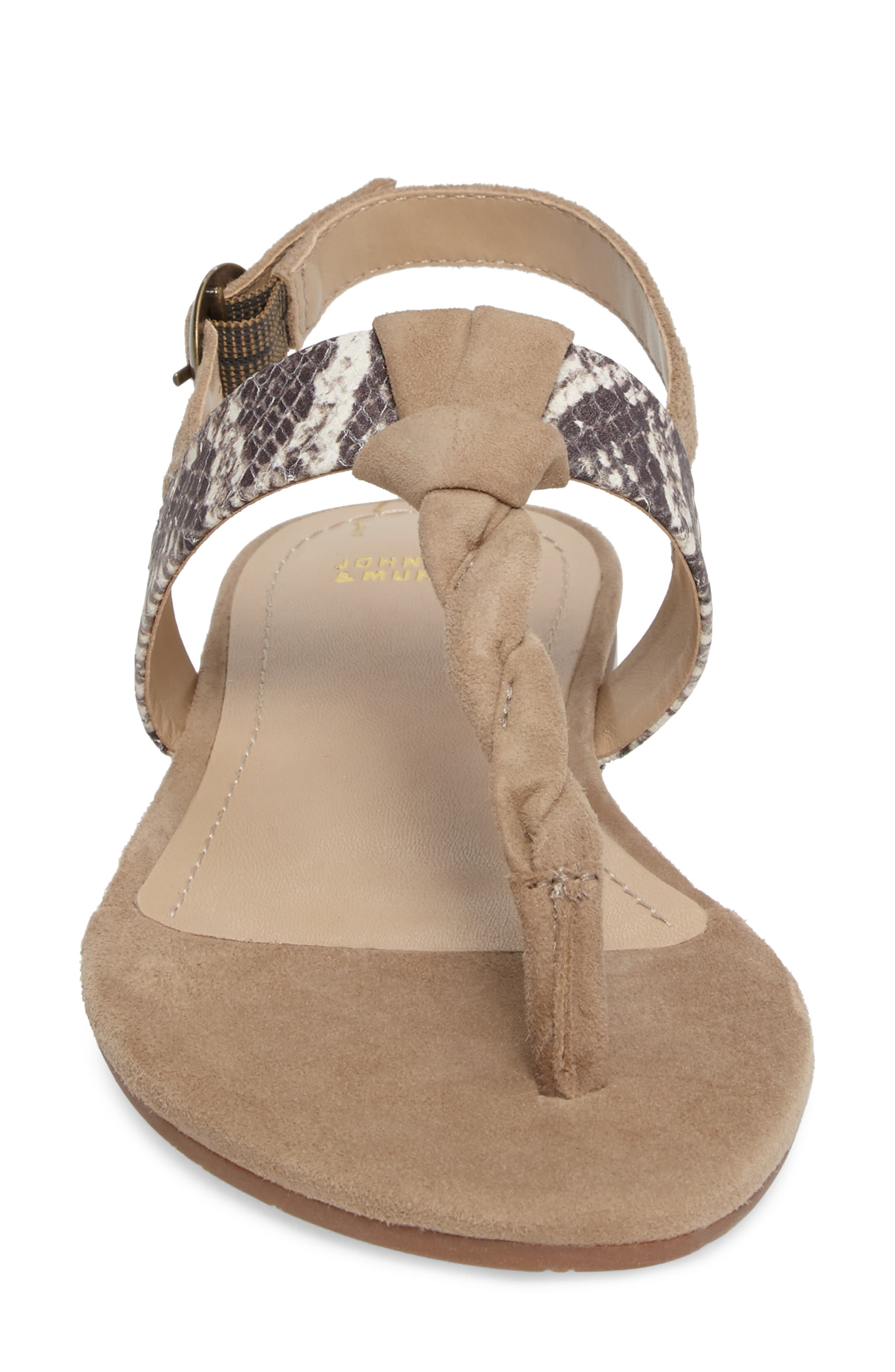 Holly Twisted T-Strap Sandal,                             Alternate thumbnail 18, color,