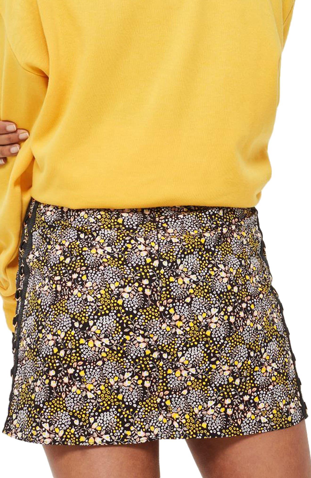 Ring Detail Miniskirt,                             Alternate thumbnail 2, color,