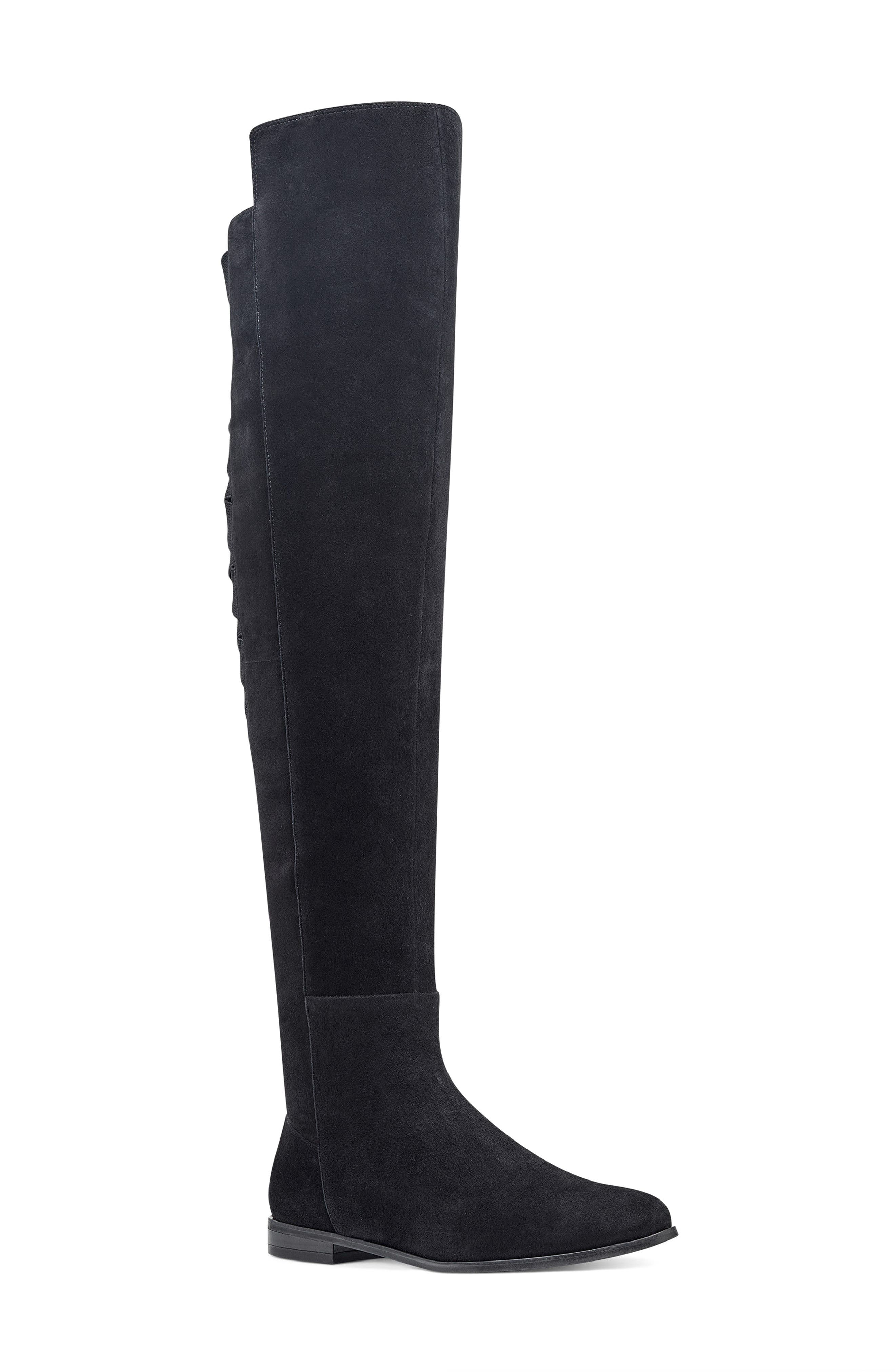 NINE WEST,                             Eltynn Over the Knee Boot,                             Main thumbnail 1, color,                             001