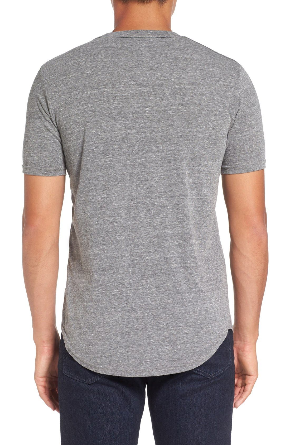 Triblend Scallop Crewneck T-Shirt,                             Alternate thumbnail 3, color,                             HEATHER GREY