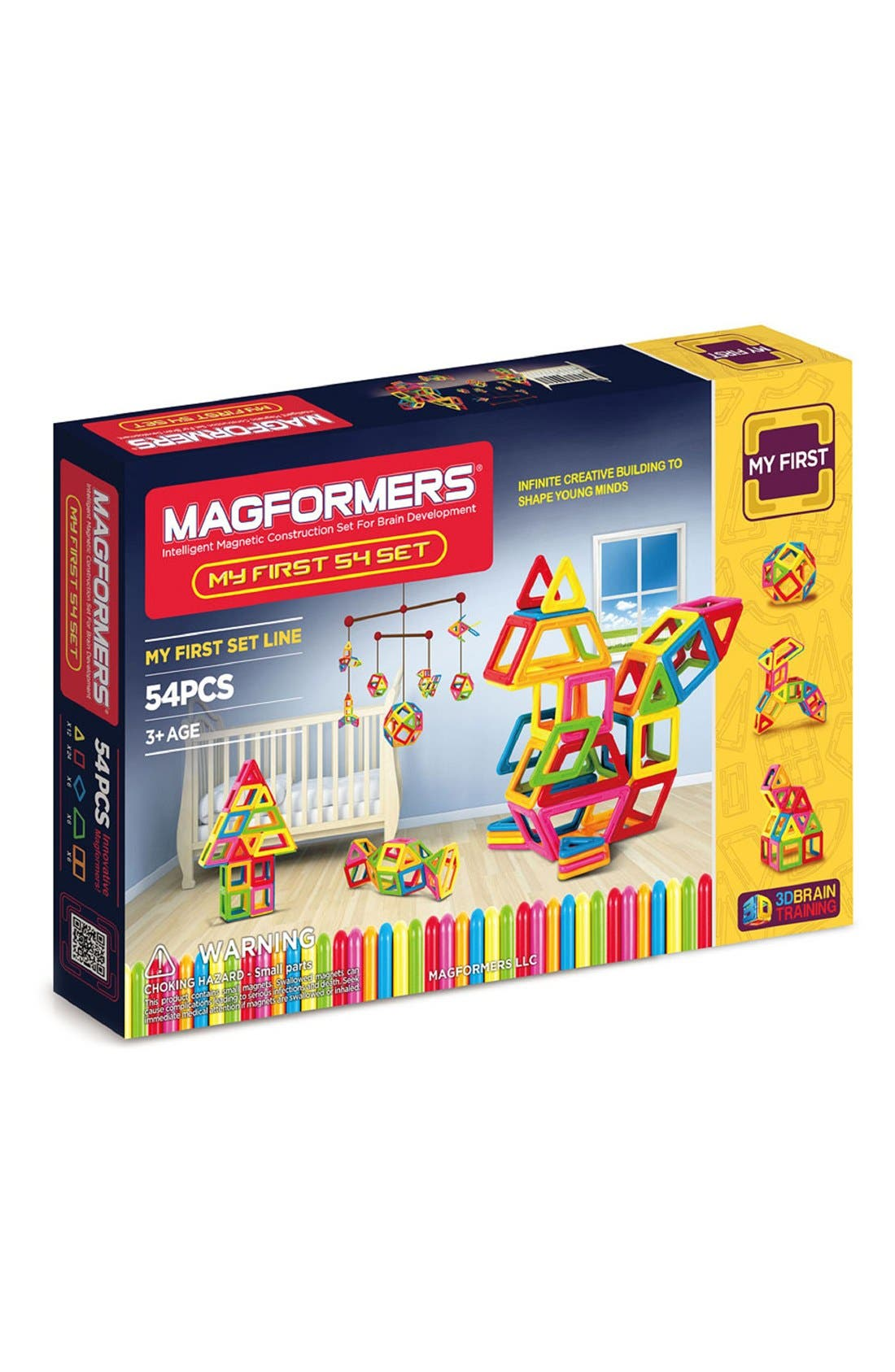 'My First' Magnetic Construction Set,                             Main thumbnail 1, color,                             Rainbow