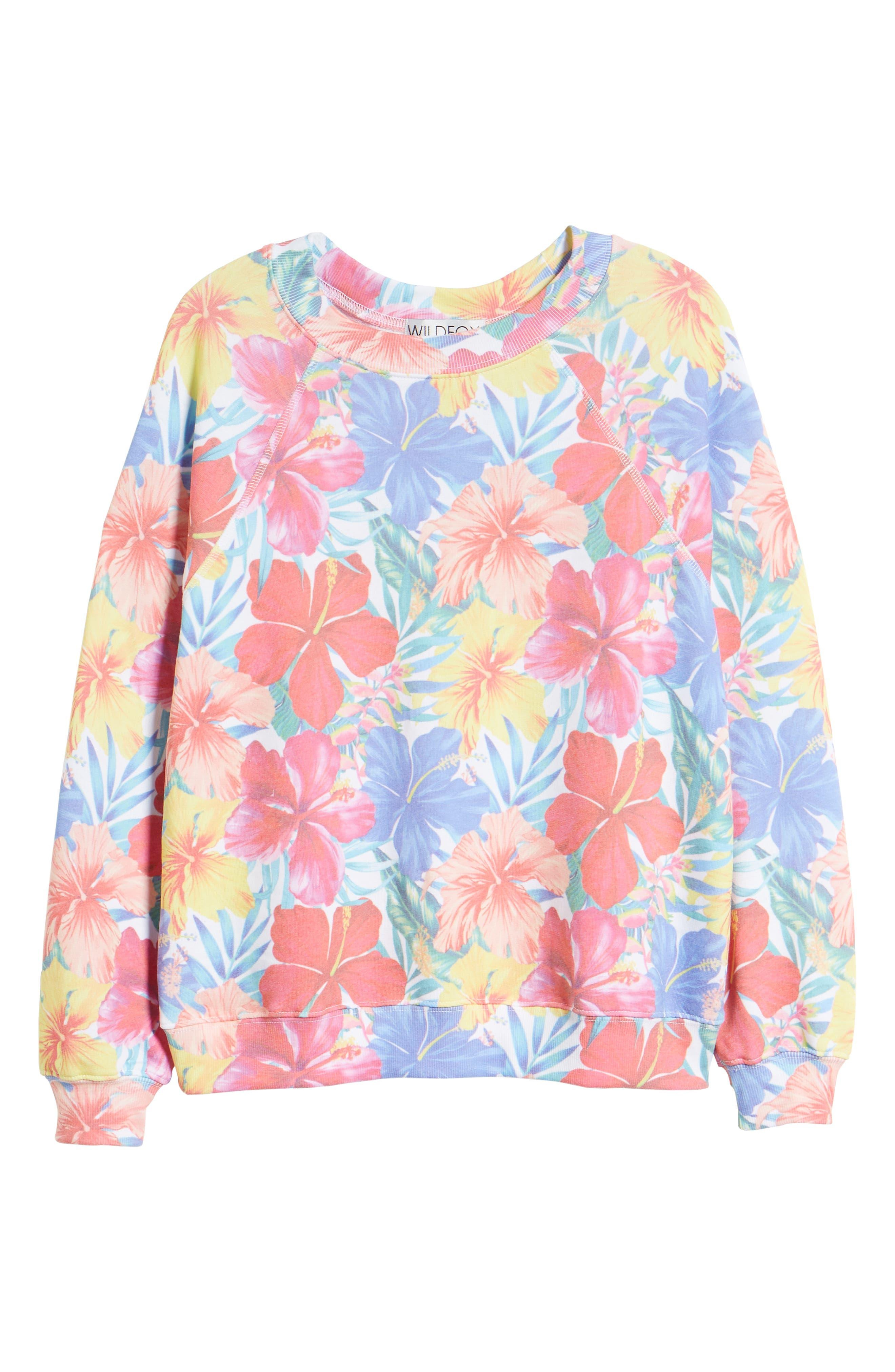 Tropicalia Sommers Sweatshirt,                             Alternate thumbnail 6, color,                             650