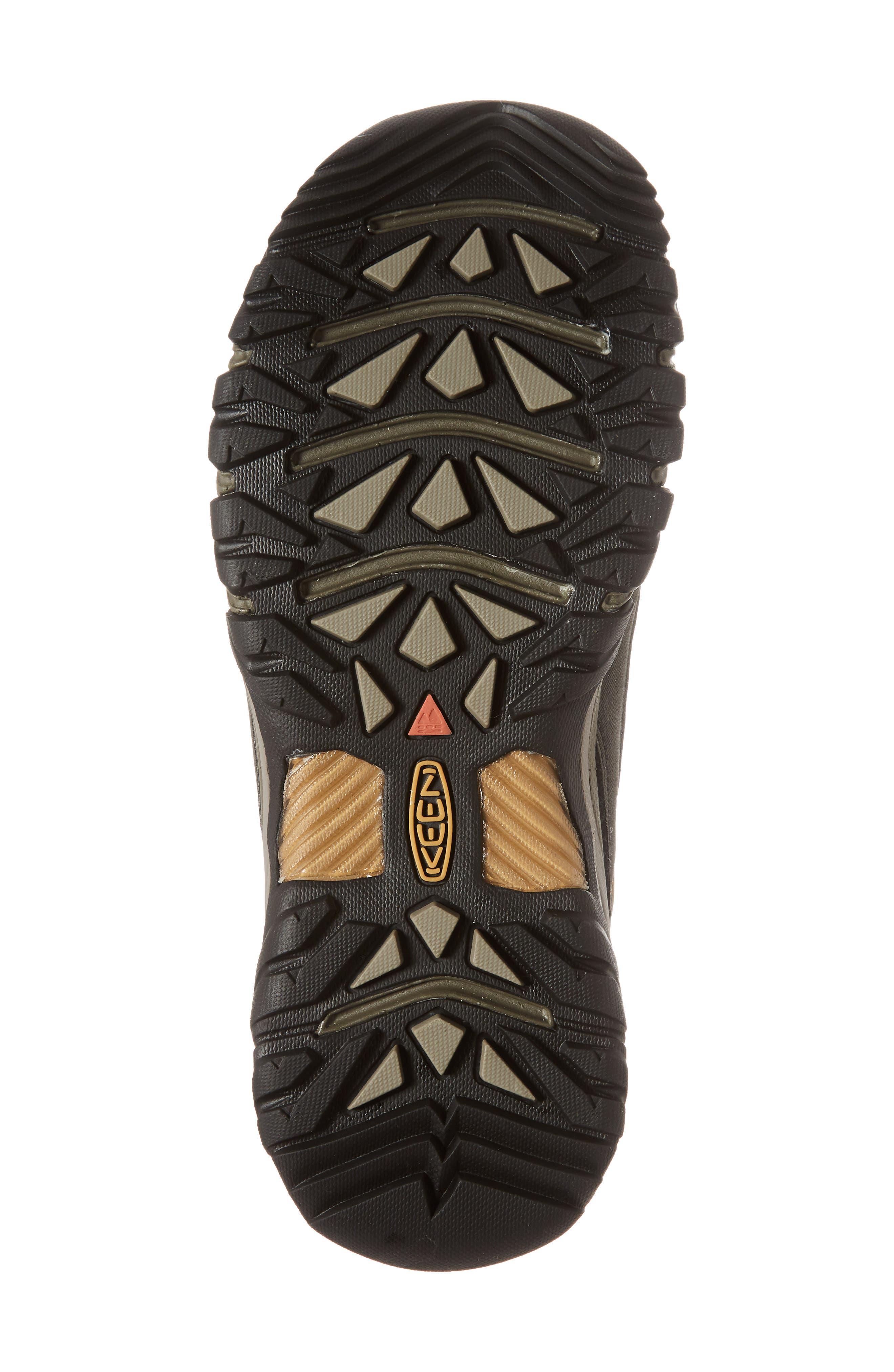 Targhee III Mid Waterproof Hiking Boot,                             Alternate thumbnail 6, color,                             BLACK OLIVE/GOLDEN BROWN